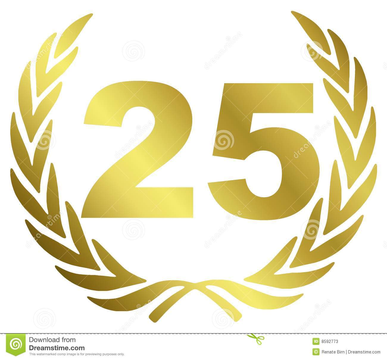 25 Anniversary Stock Illustration. Illustration Of
