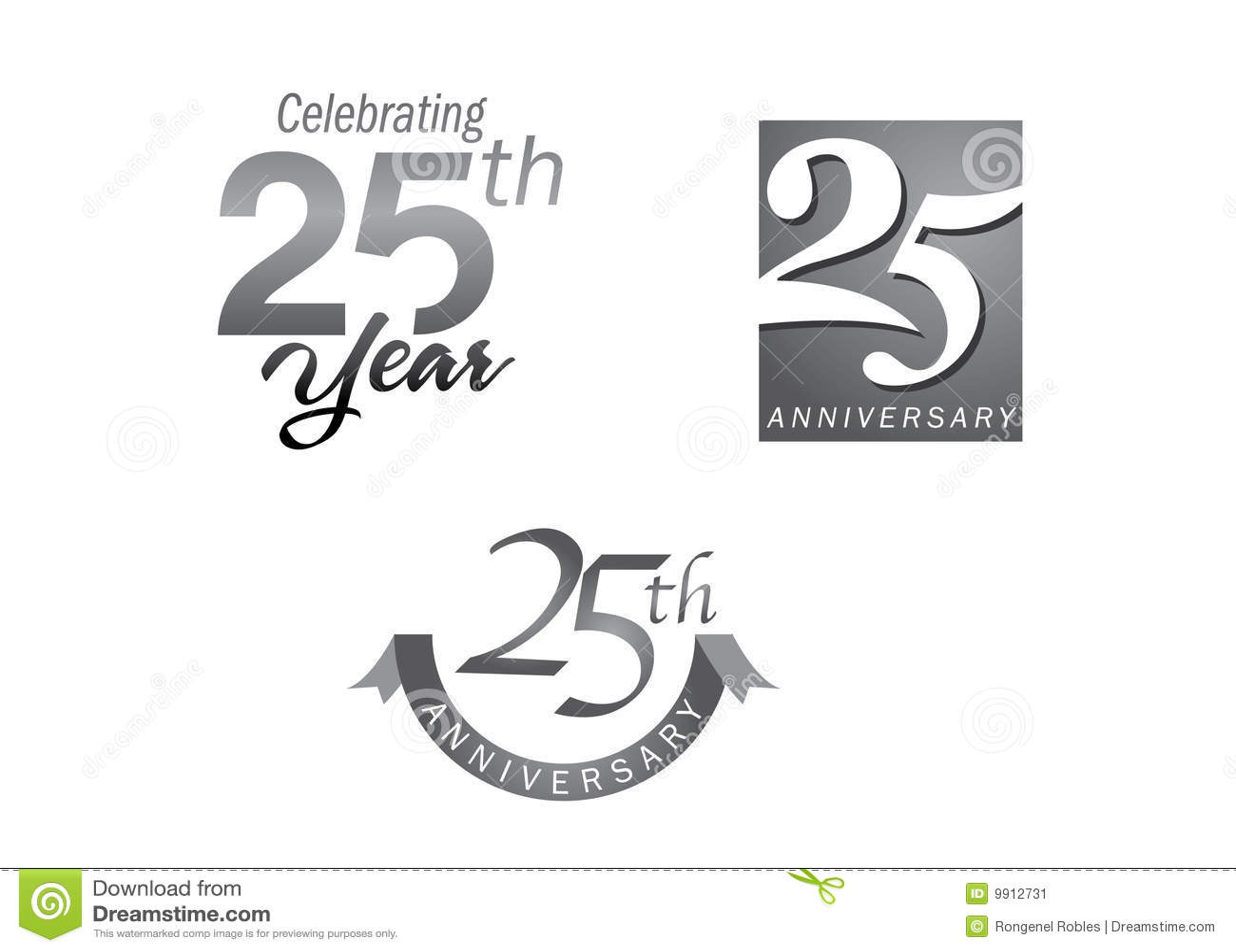 25 rocznicowych jubileuszowych rok