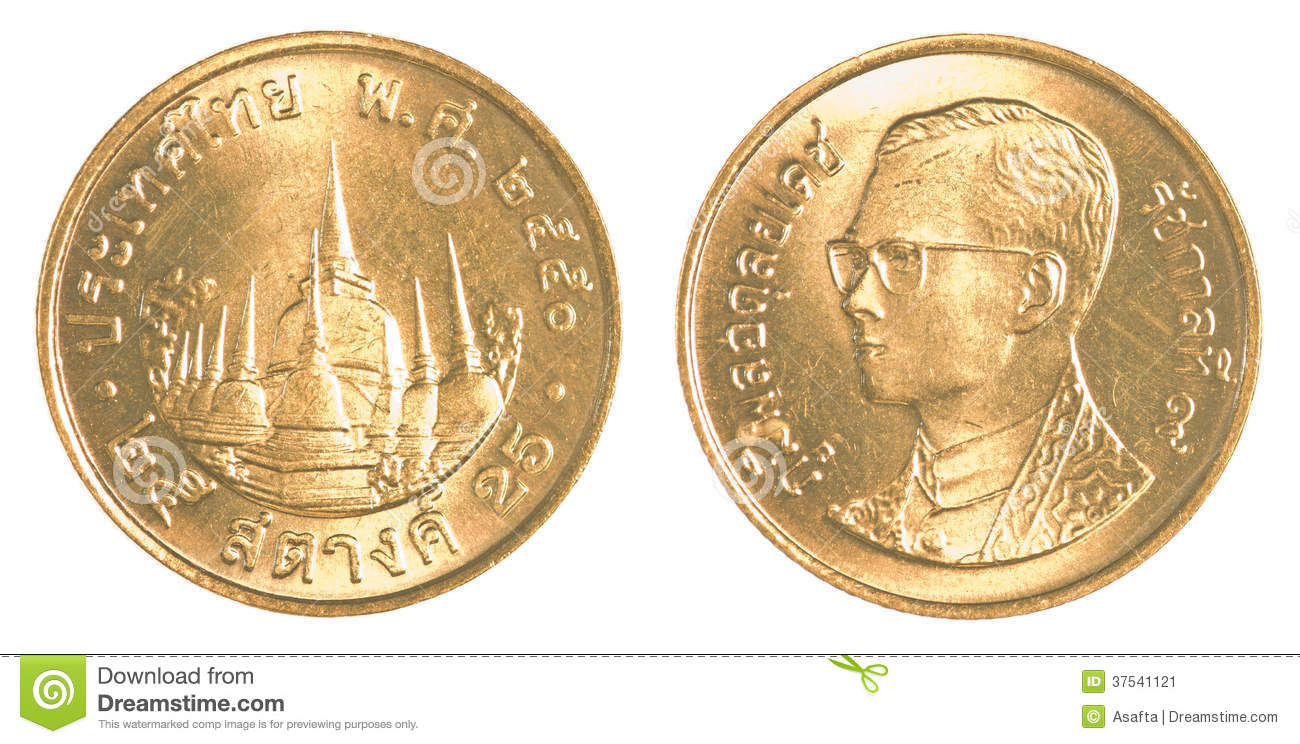 25 Thai Baht Satang Coin Stock Image Image Of Currency