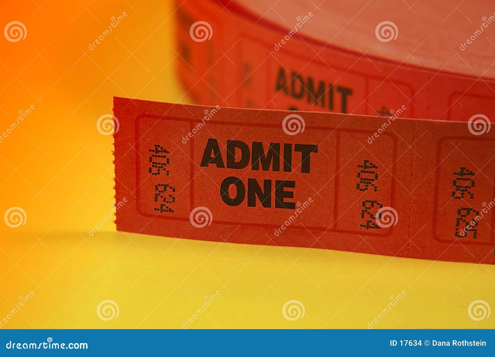 承认一卖票