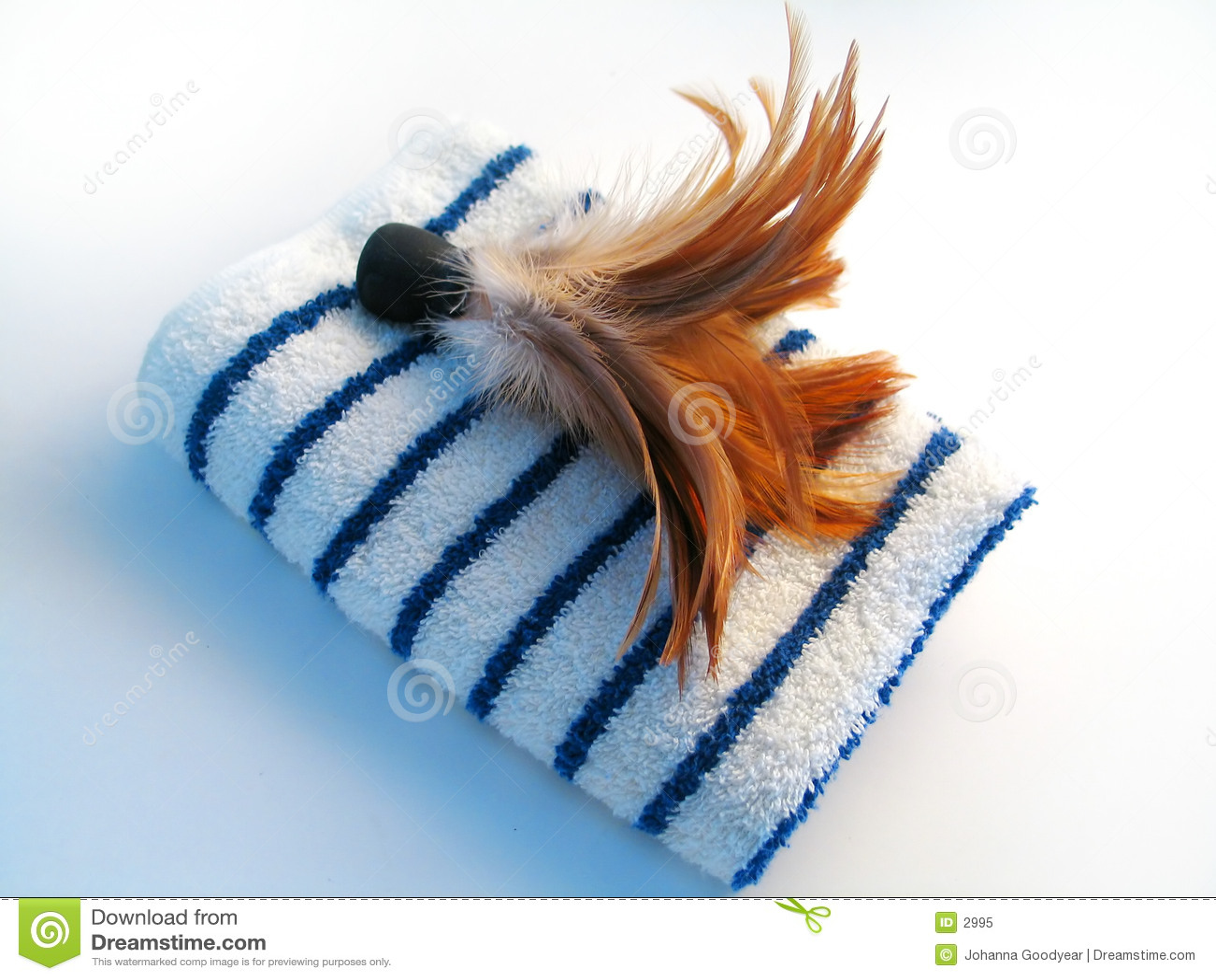 掠过羽毛毛巾