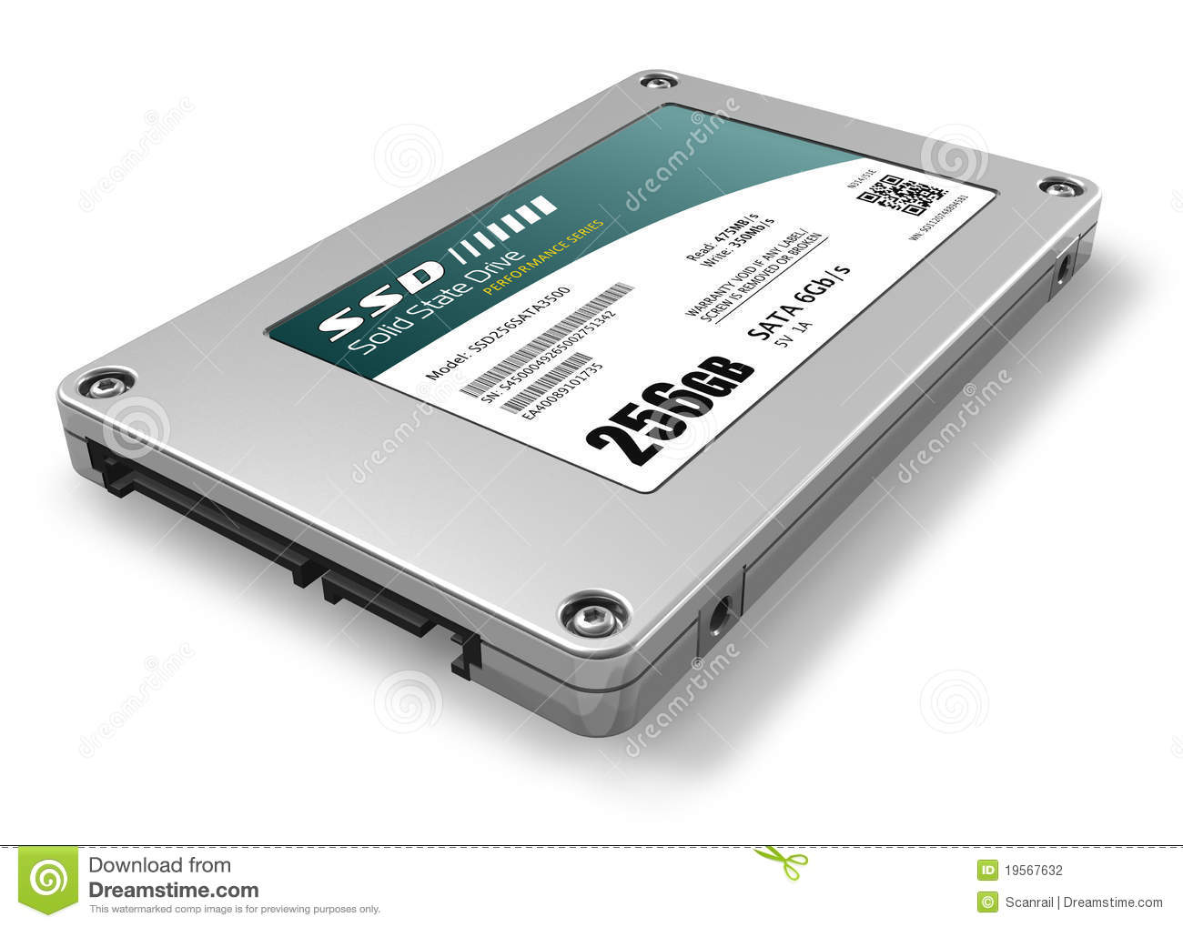 256gb Solid State Drive Ssd Stock Photography Image