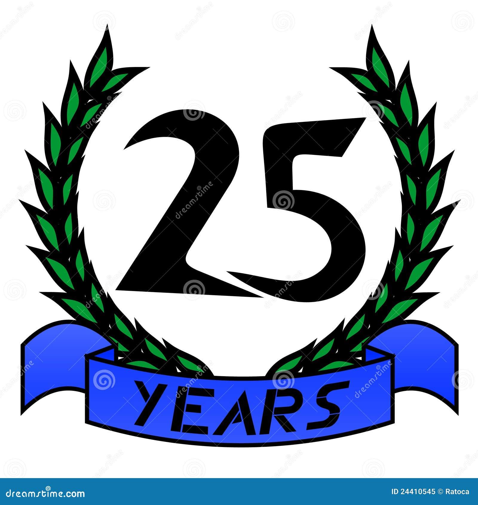 25th Anniversary Royalty Free Stock Photo - Image: 24410545
