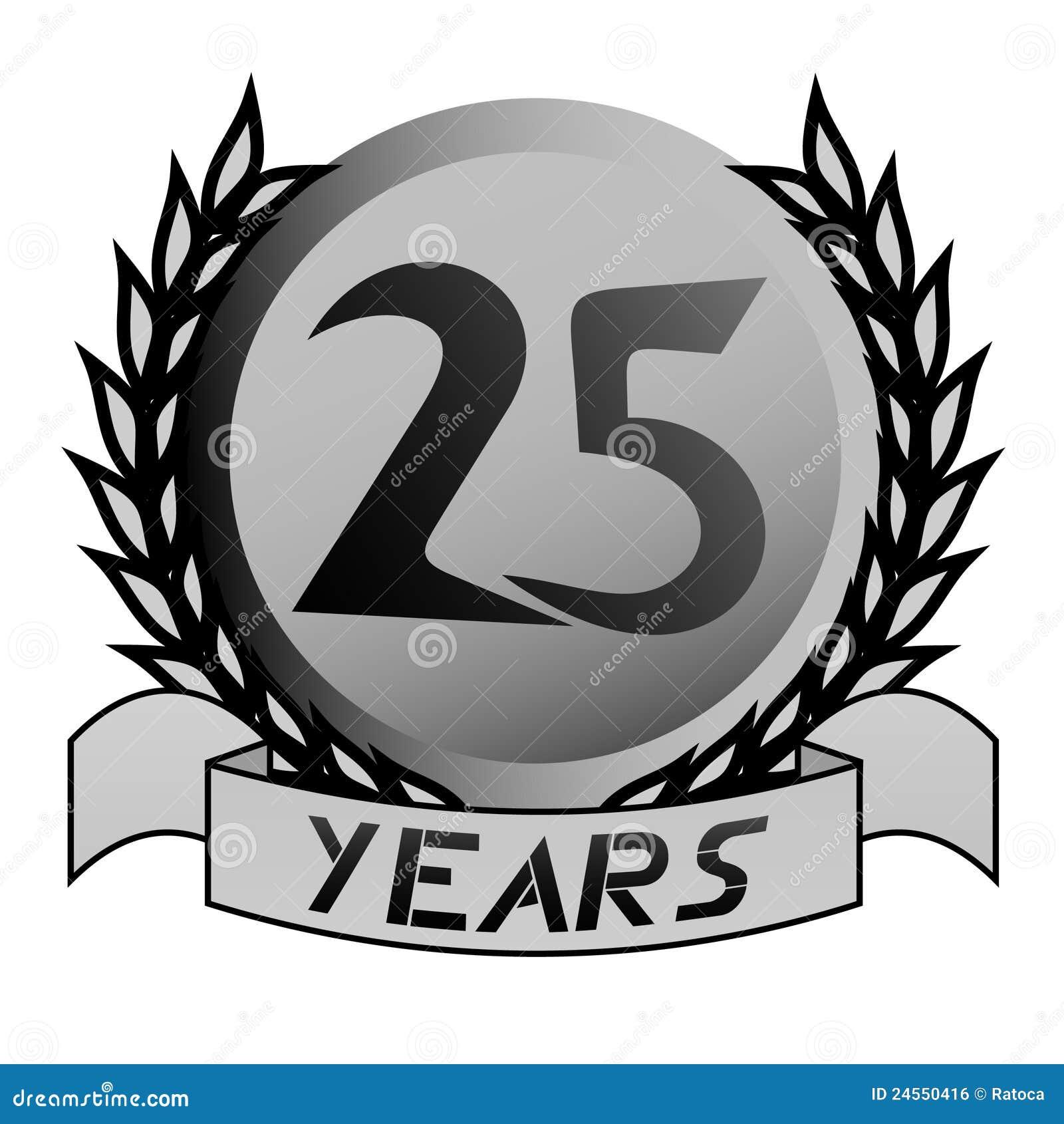 25th Anniversary Emblem Royalty Free Stock Image - Image ...