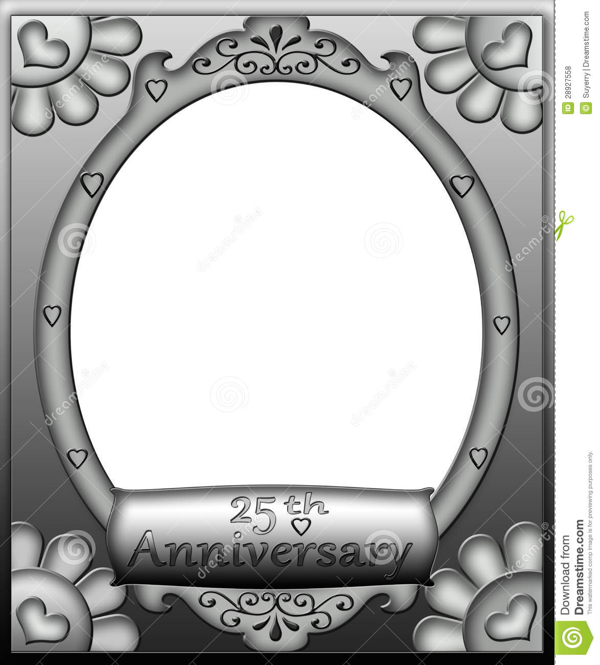 25th Anniversary Frame Border Royalty Free Stock Photos ...