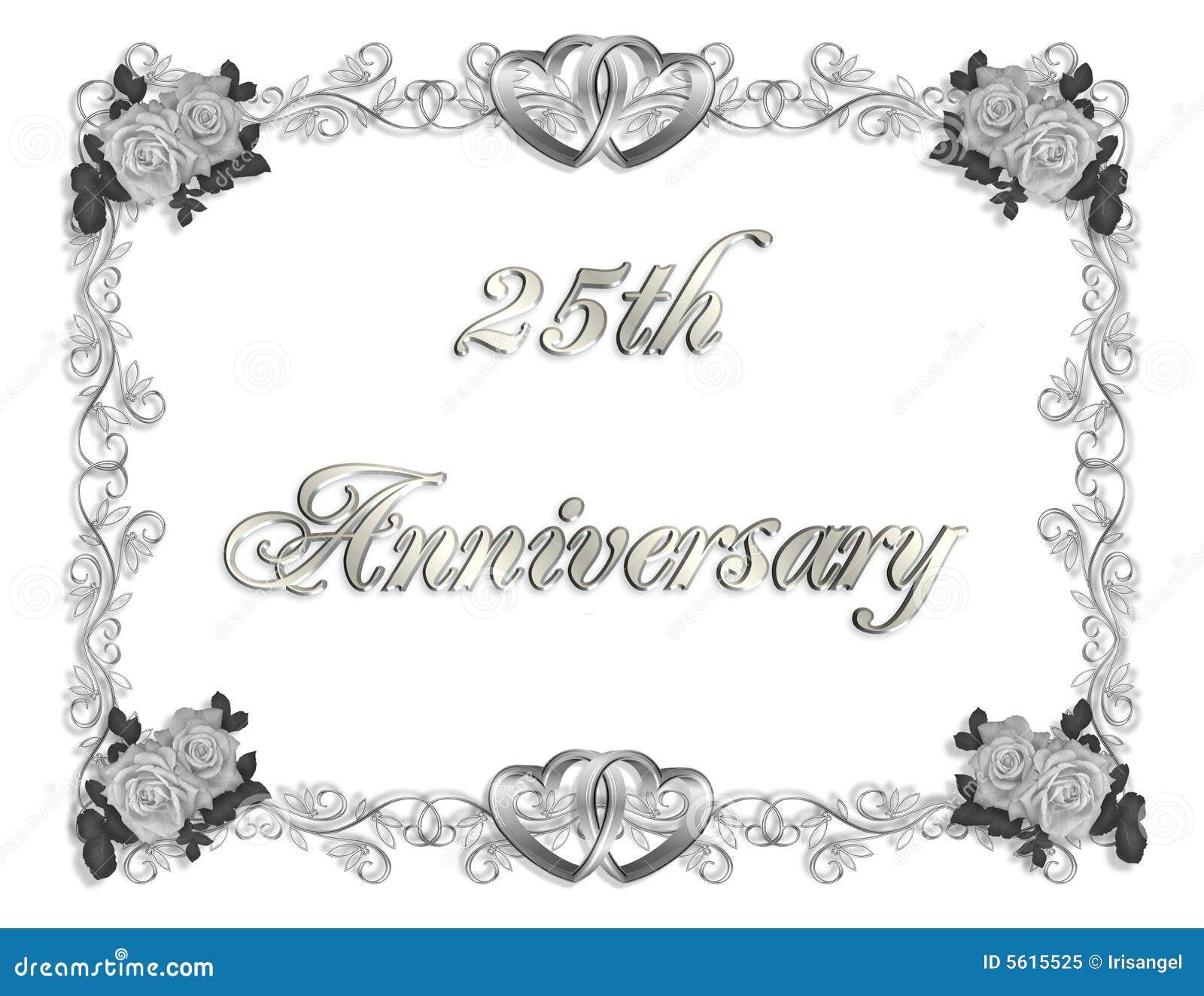 25th anniversary invitation 3d stock illustration illustration of