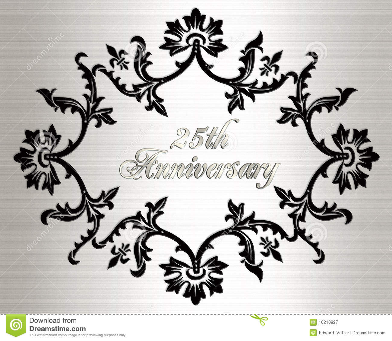 25th Anniversary Invitation Card Stock Illustration - Illustration ...