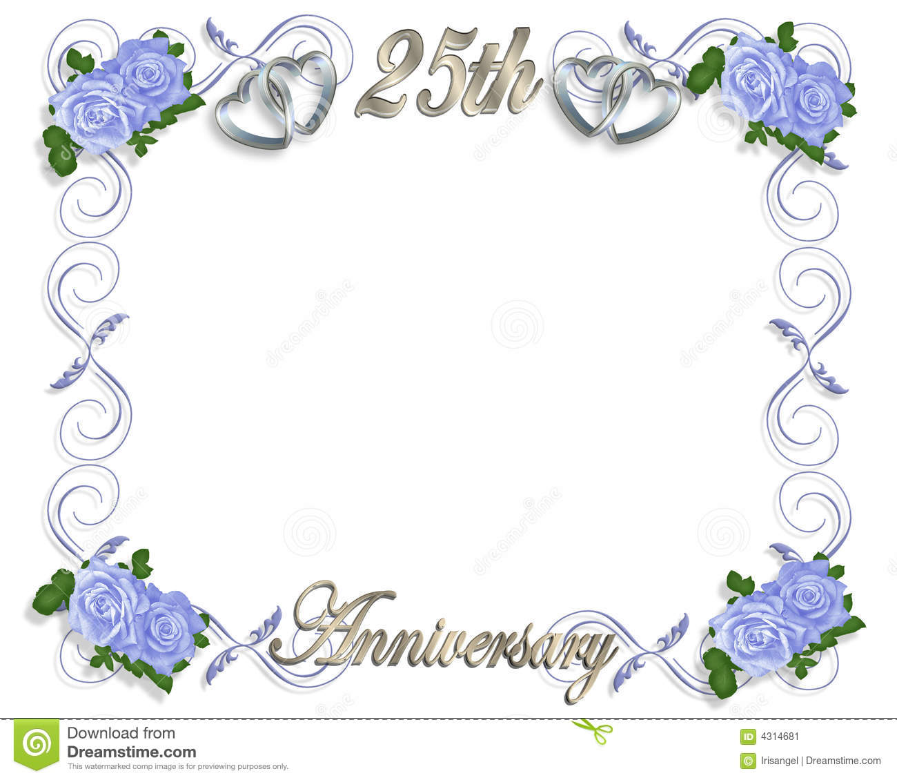 25th Anniversary Template Stock Illustration Illustration