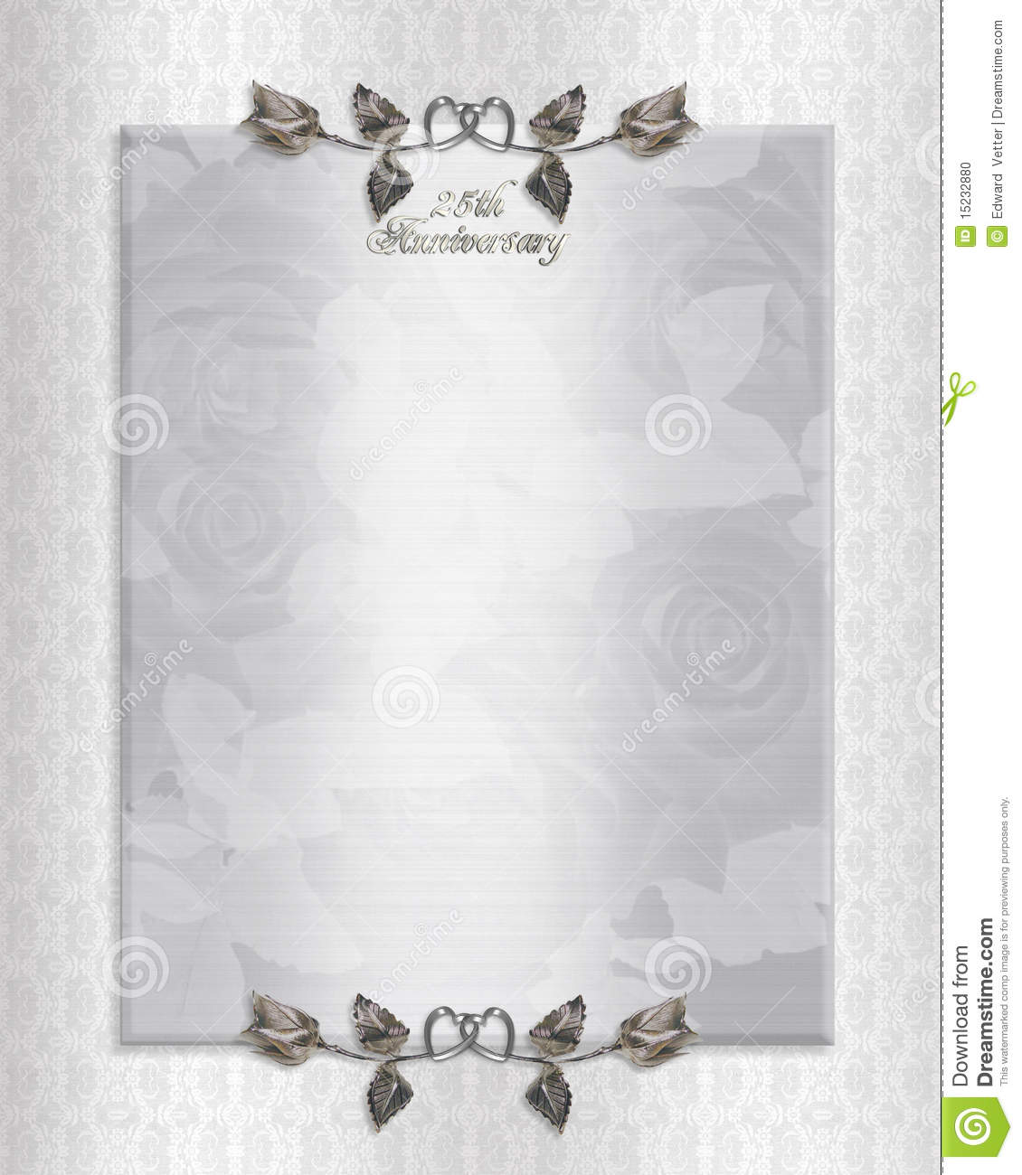 Anniversary Invitation Template Hunecompanycom - Wedding invitation templates: silver wedding invitations templates