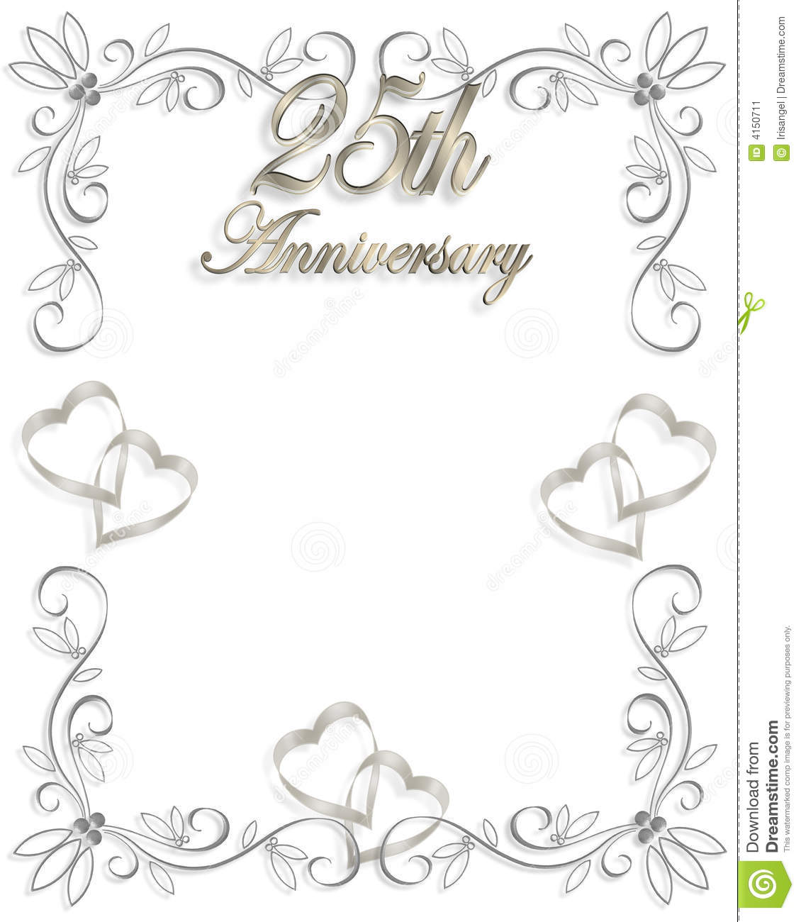 25th wedding anniversary invitation stock image - image: 4150711, Wedding invitations