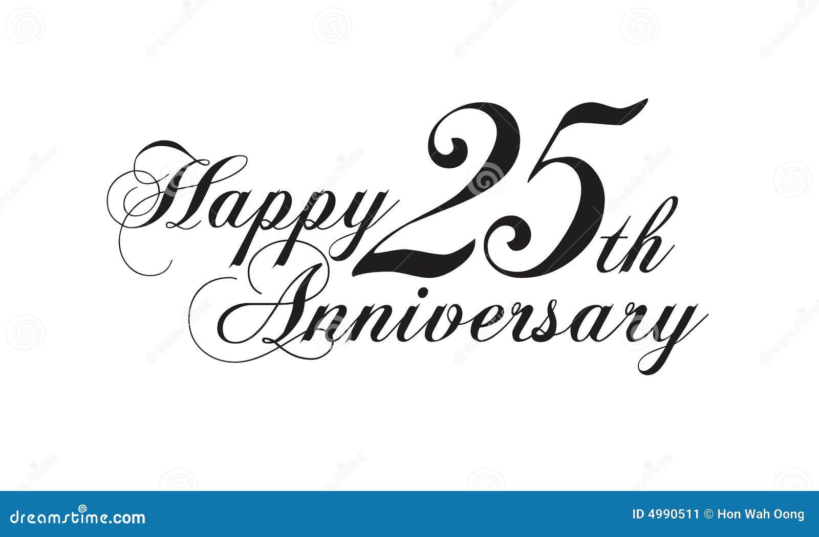 Feliz Aniversario 25: 25to Aniversario Feliz Stock De Ilustración. Ilustración