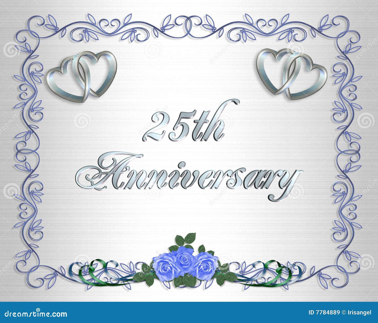 25to Invitación De La Frontera Del Aniversario De Boda Stock