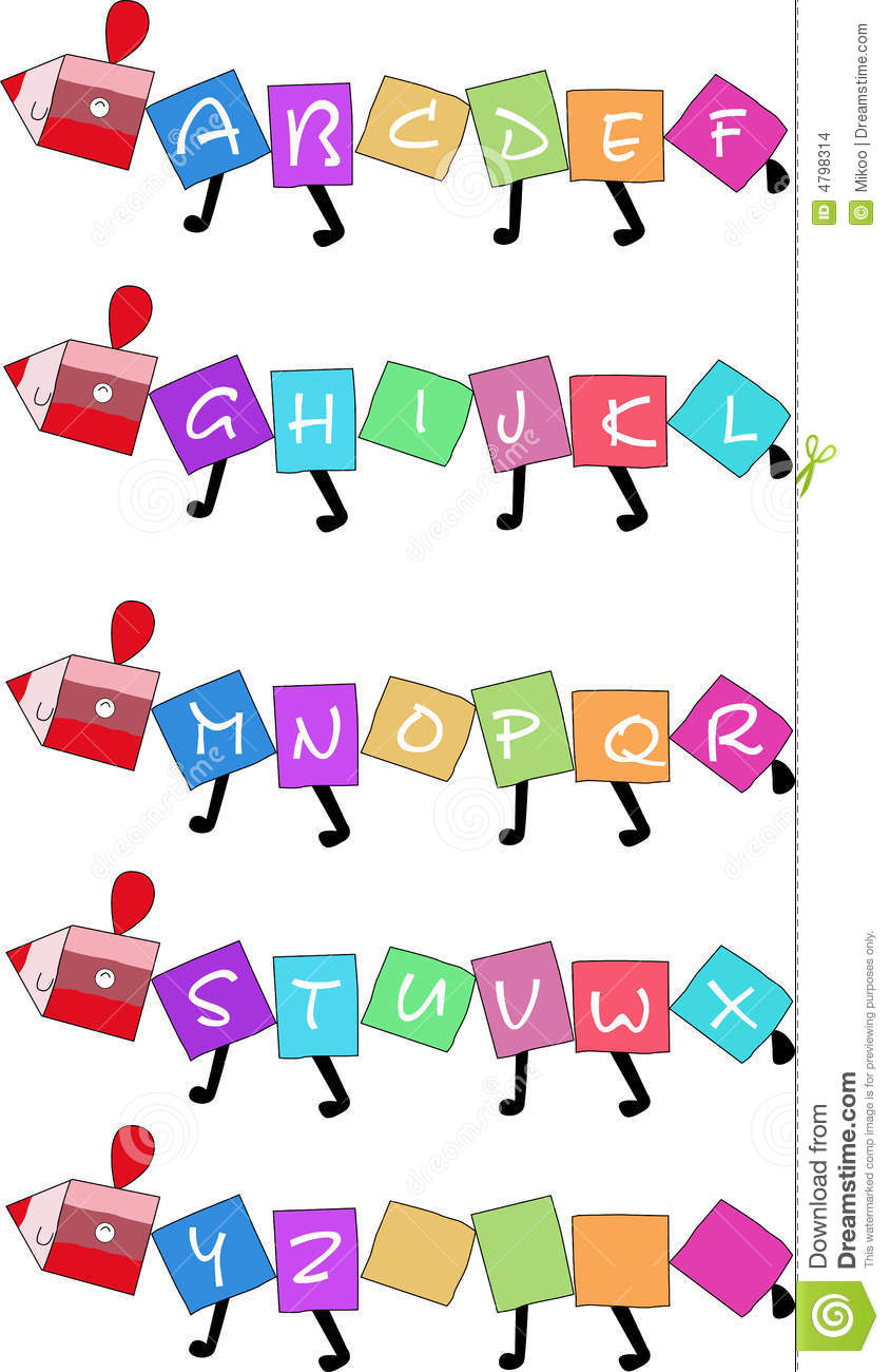 26 letters stock illustration  illustration of colorful