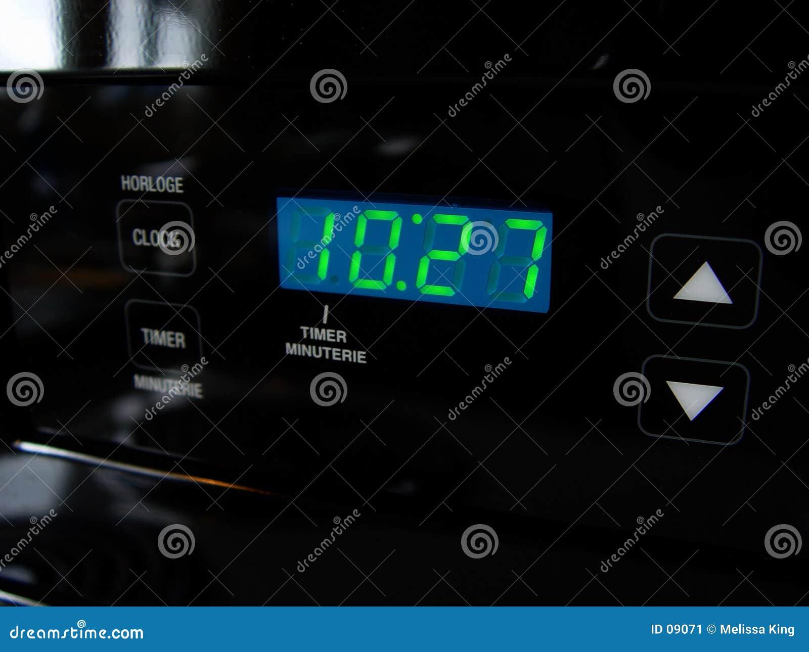 时钟数字式火炉