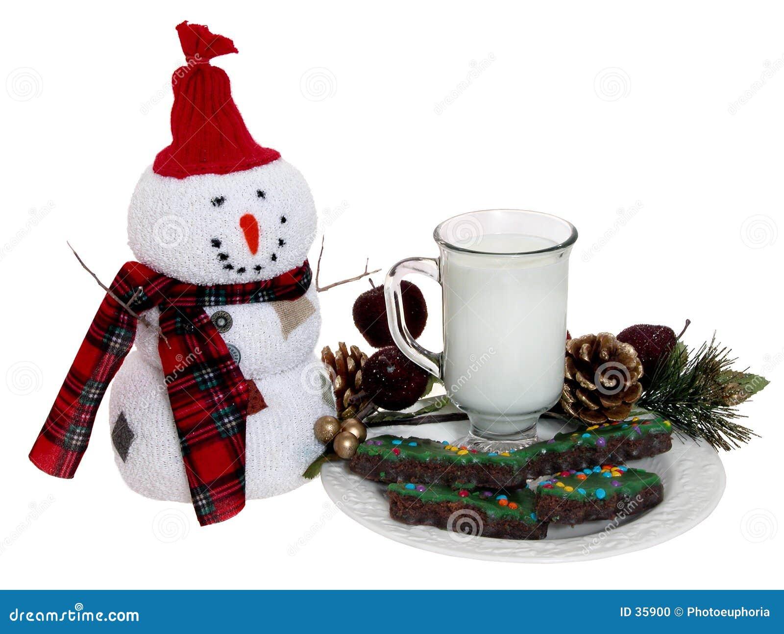 曲奇饼牛奶圣诞老人