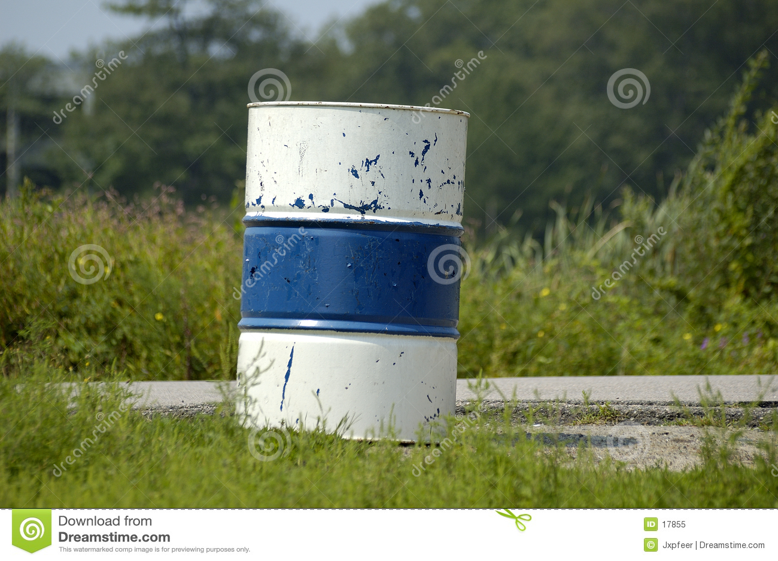 桶蓝色白色