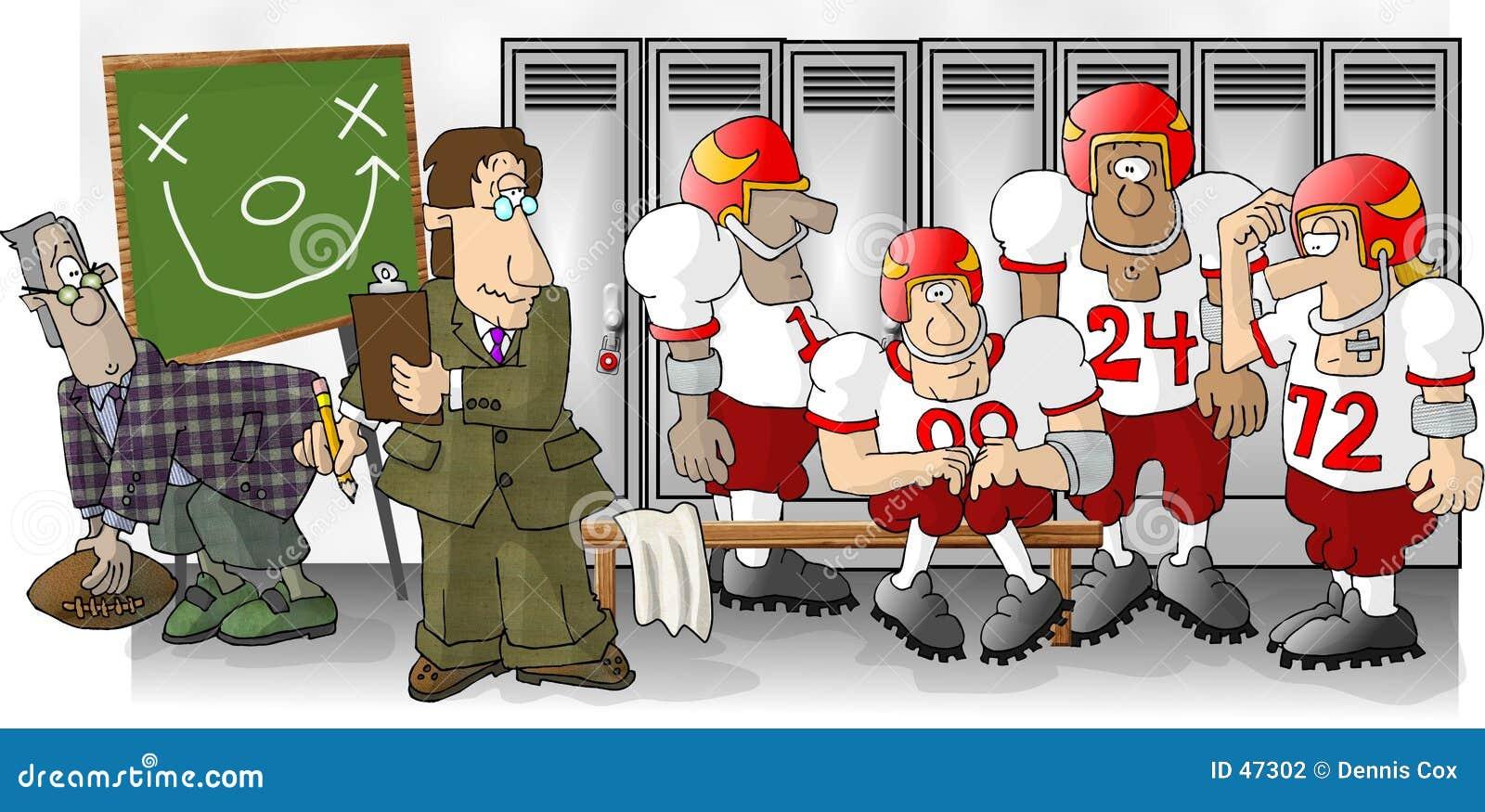 橄榄球更衣室