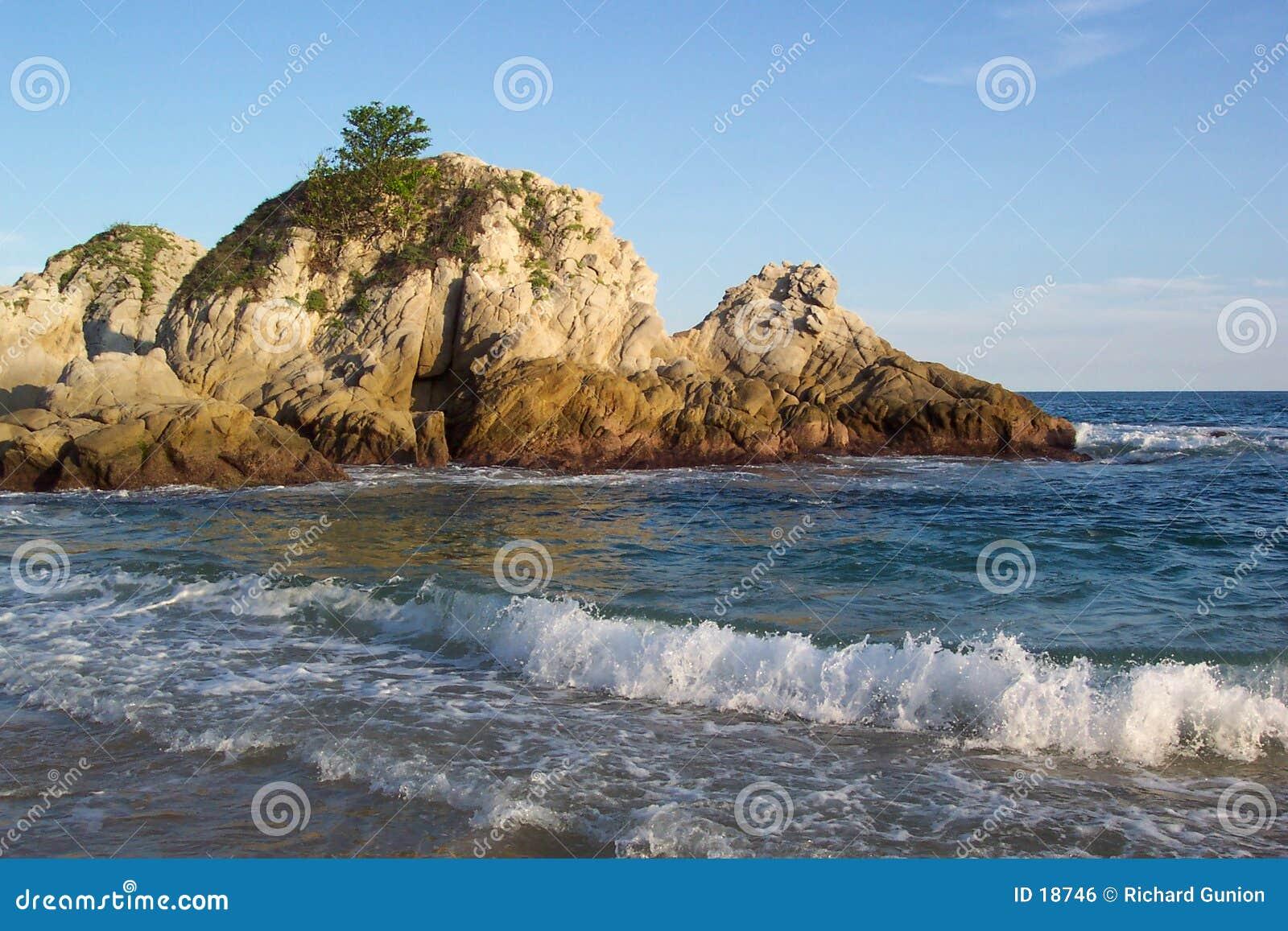海湾huatulco墨西哥tangolunda
