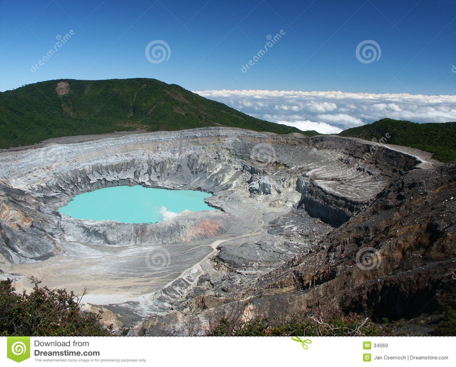 火山口poas火山