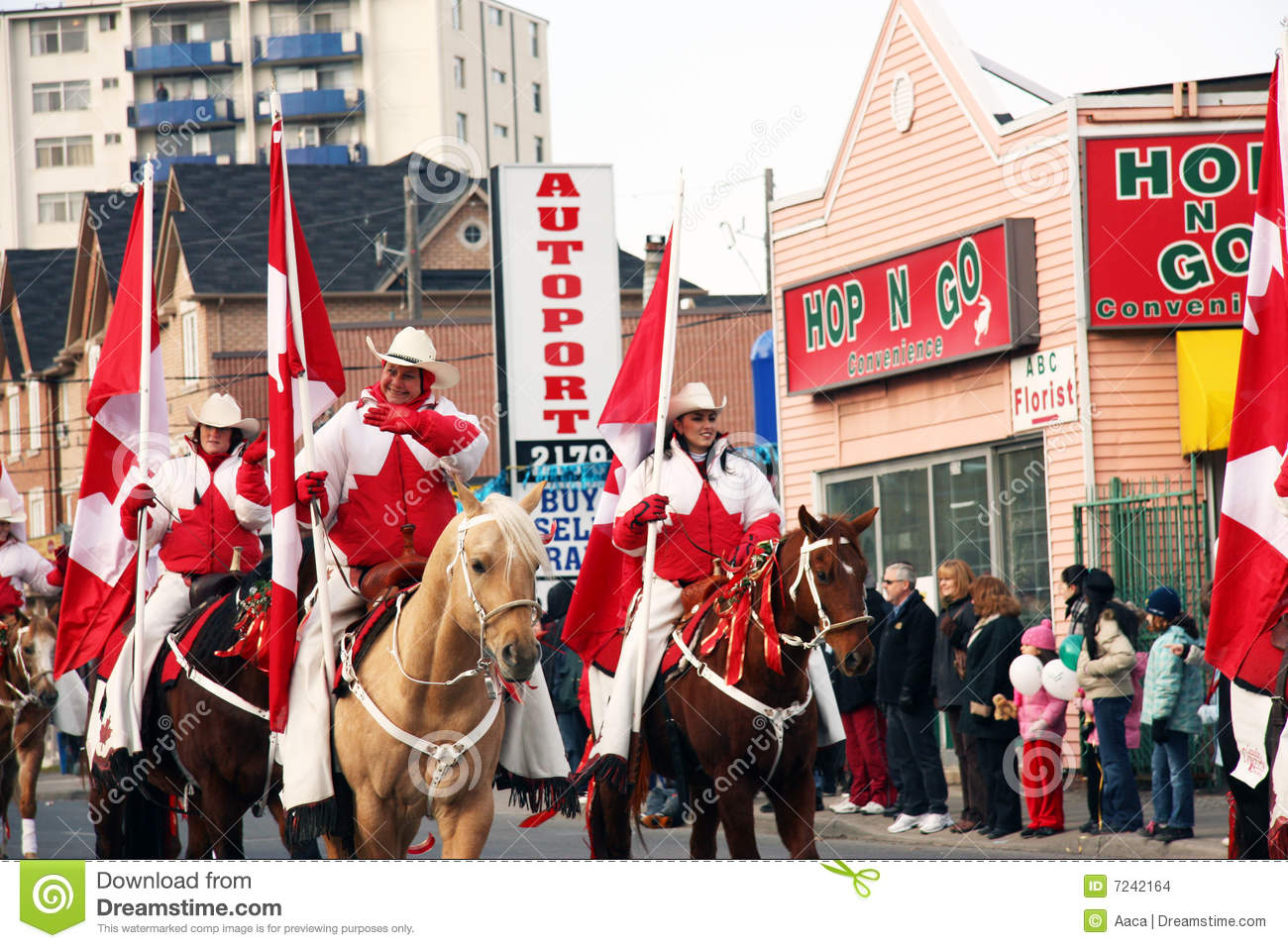 Cowgirls Riding Horses In Parade Editorial Image