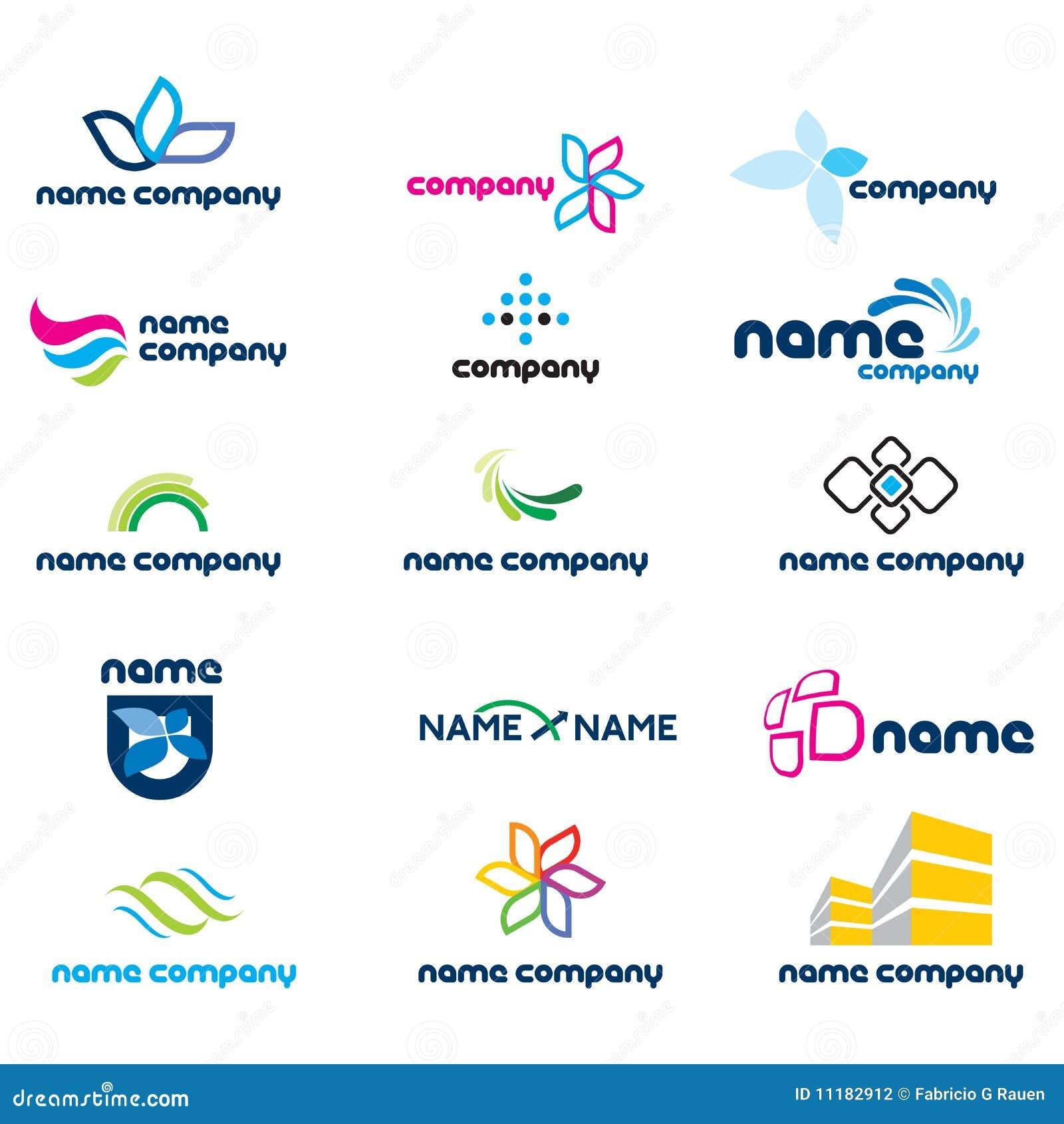 2d logo icon set