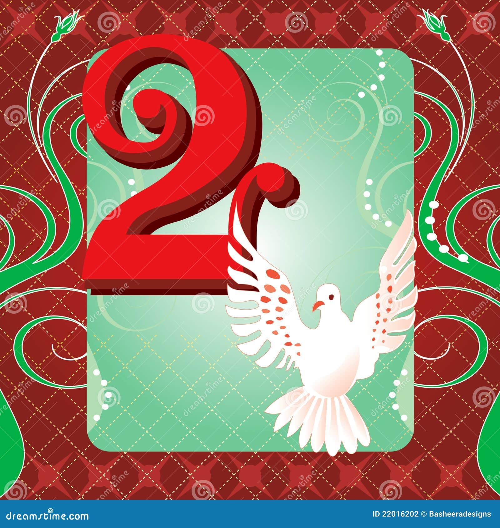 2nd Day Of Christmas Stock Photography Image 22016202