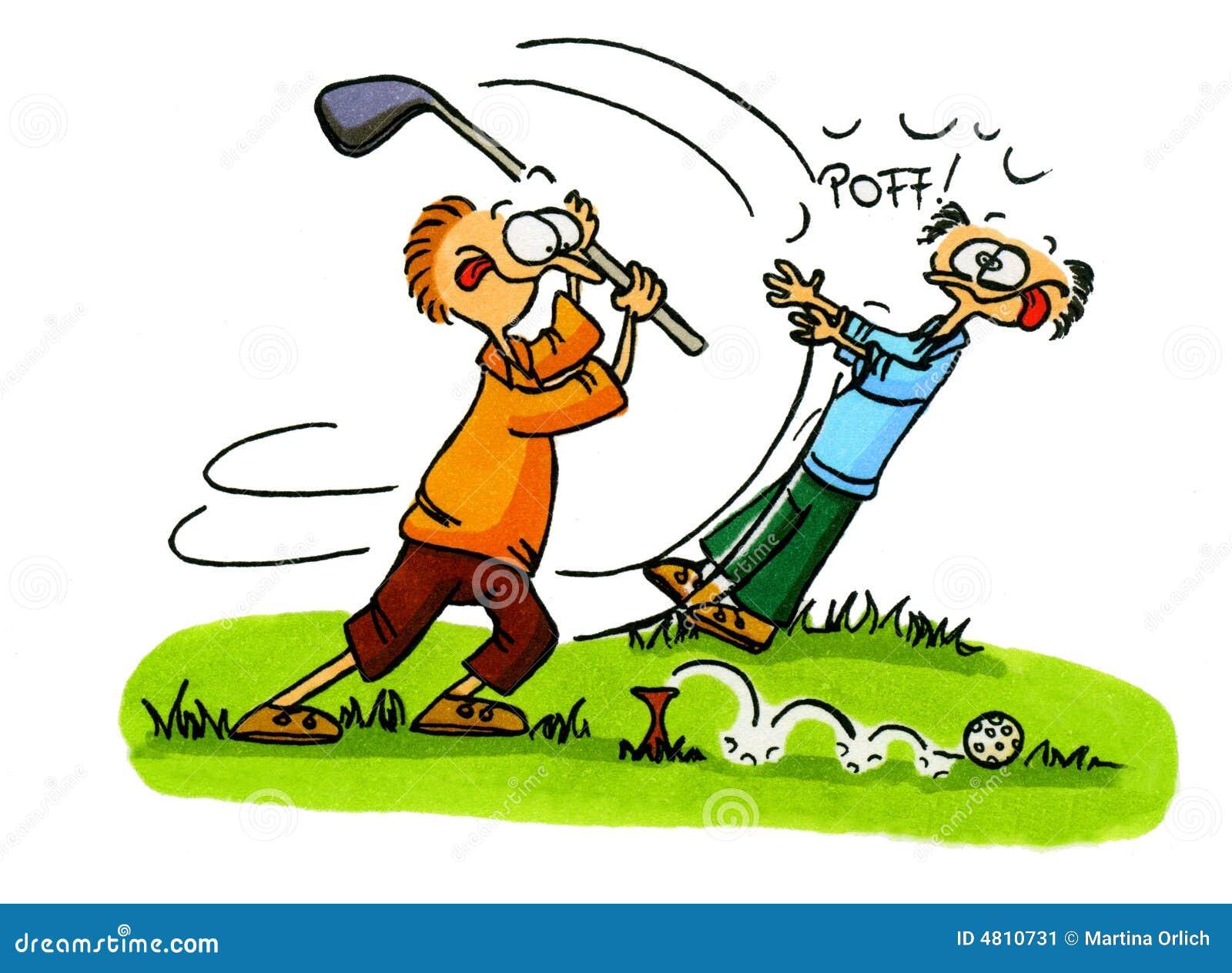 3个动画片高尔夫球编号球员系列