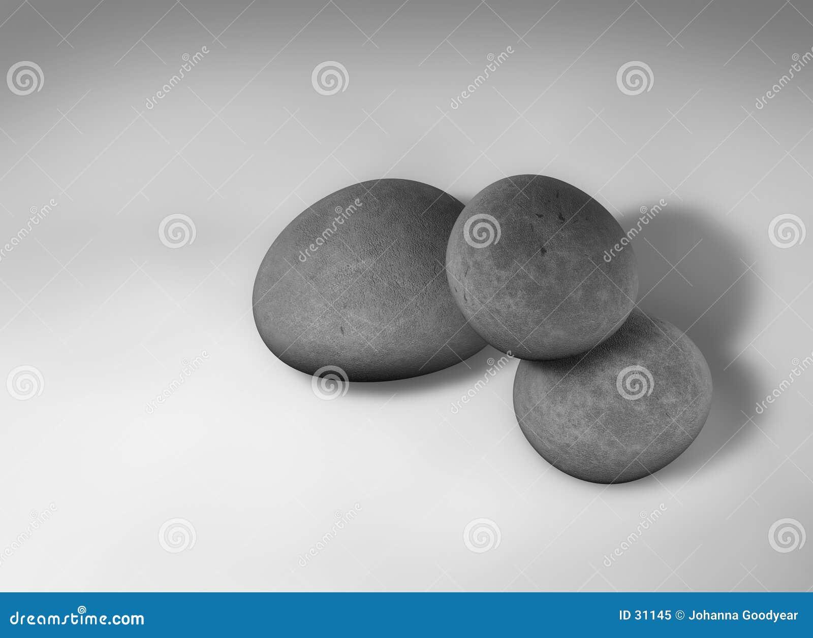 3个小卵石