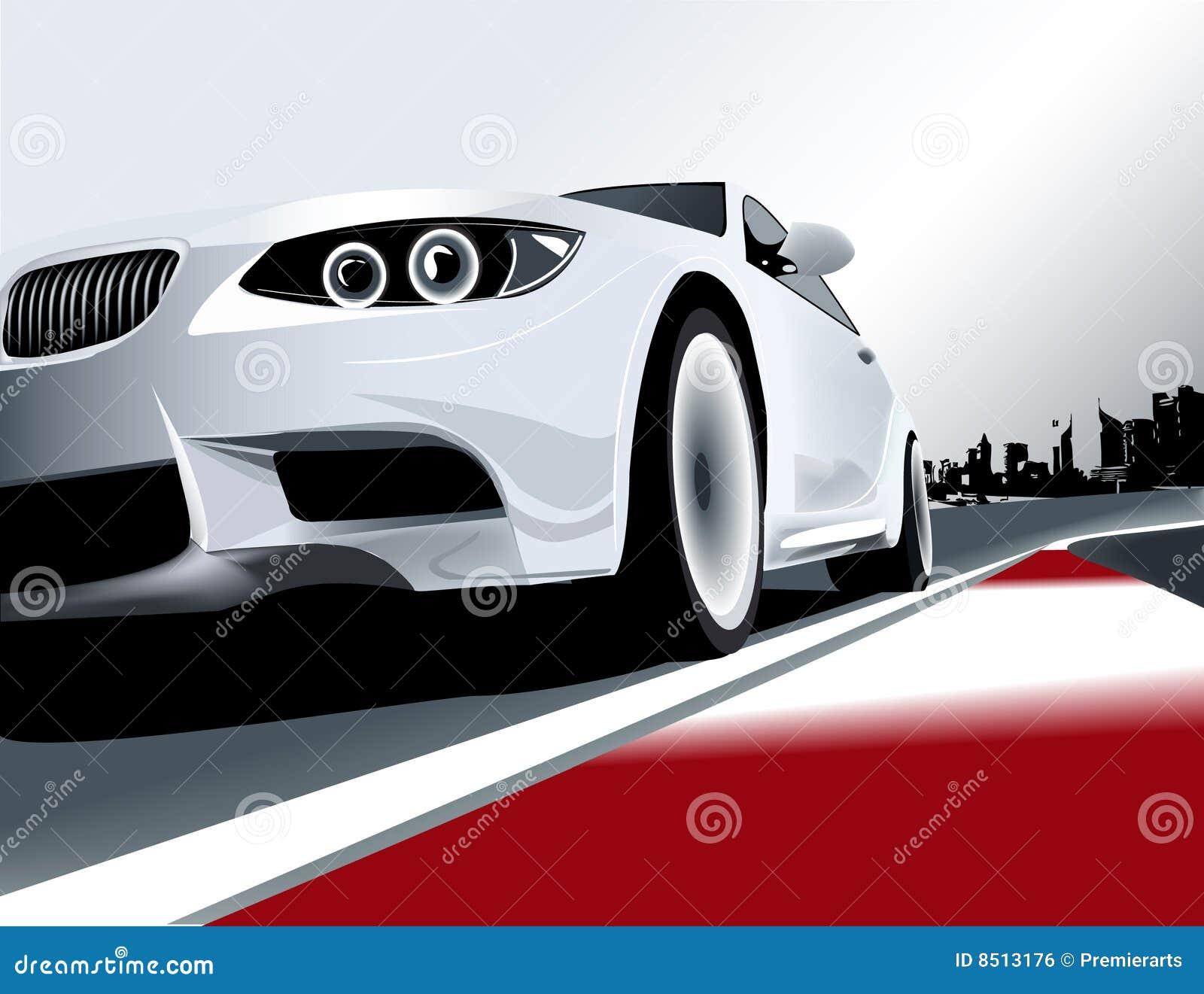 3个bmw小汽车赛系列白色