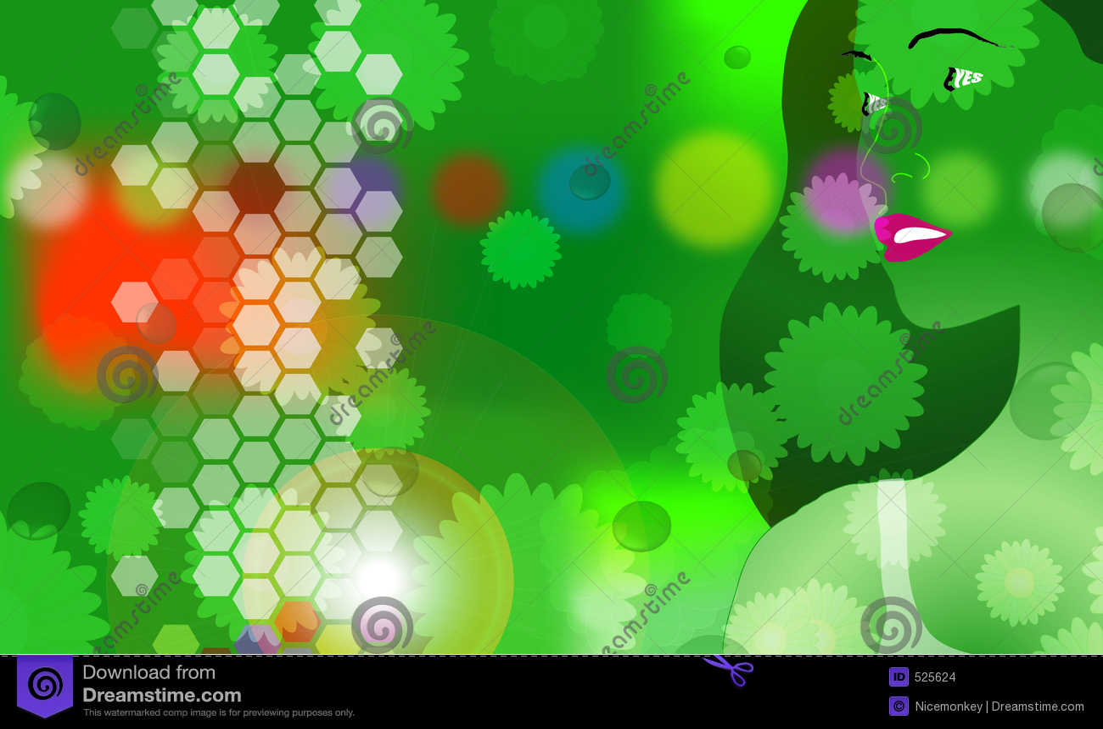 Download 3绿色导致 库存例证. 插画 包括有 注视, 迪斯科, 头发, 微笑, 绿色, 查找, 嘴唇, 凝视, 眼睛 - 525624