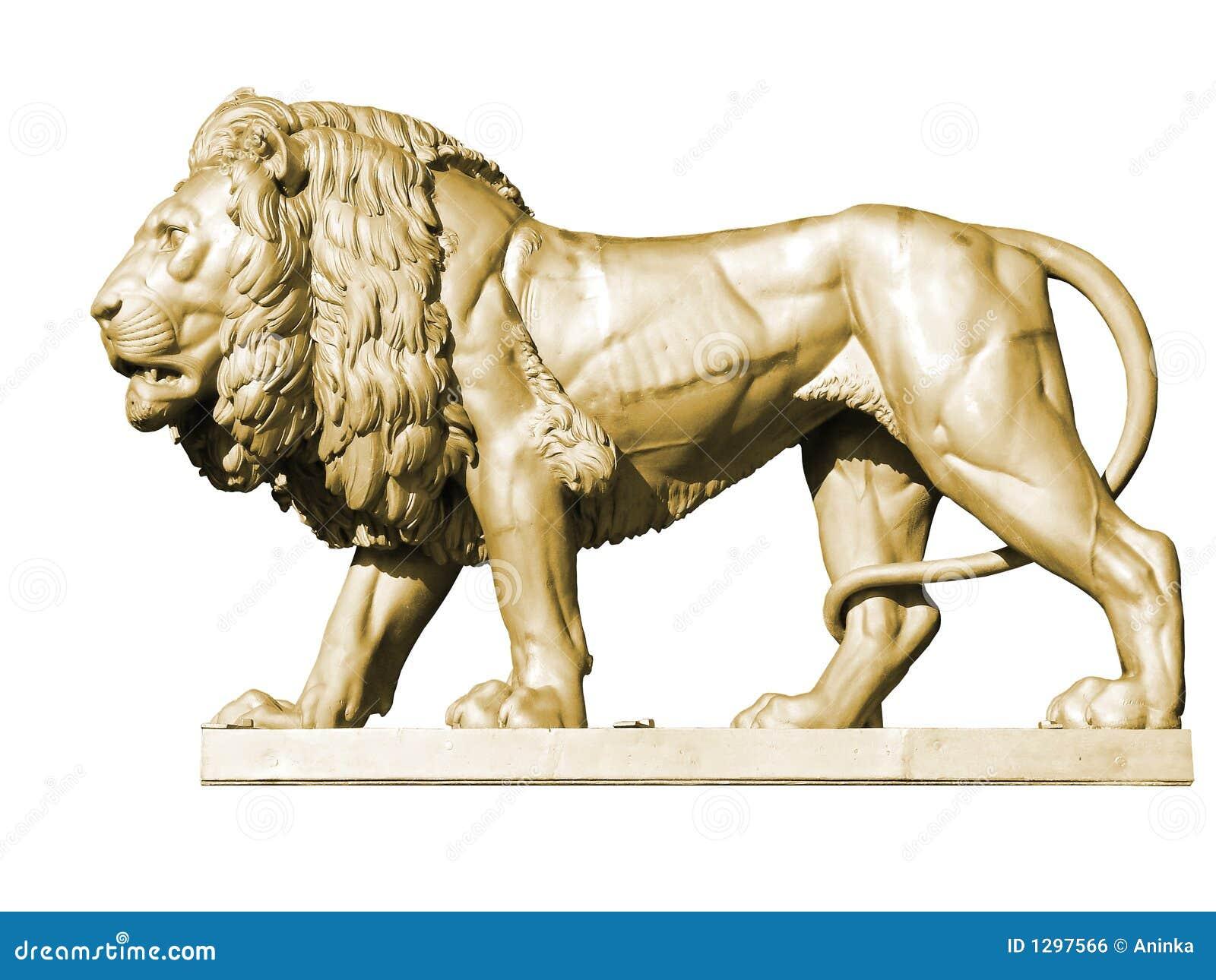 3金狮子雕象