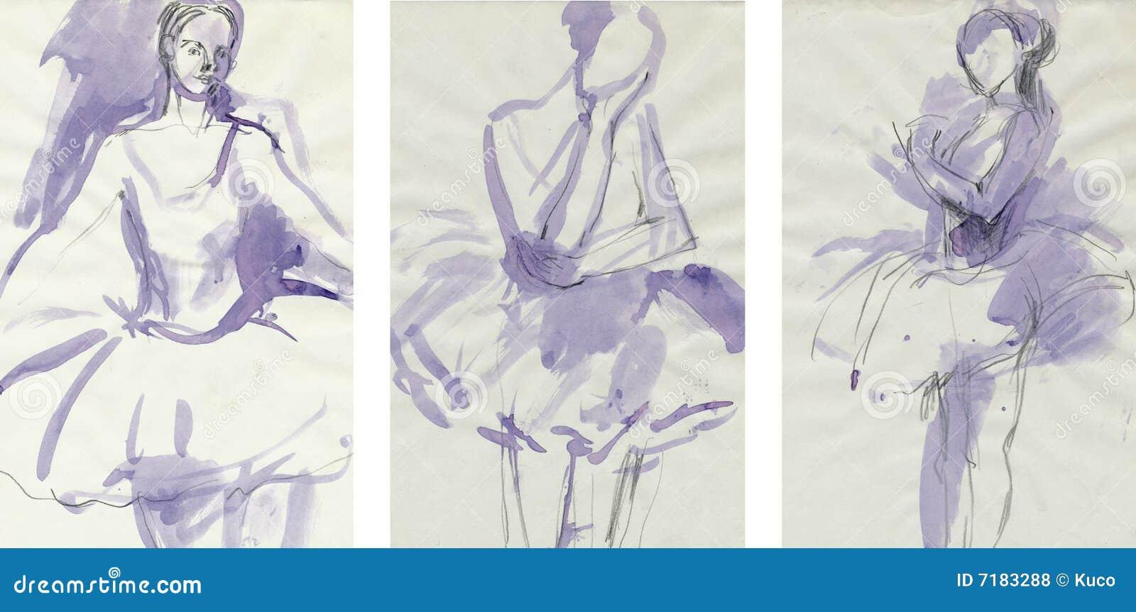3 χορευτές που σύρουν τι&sigma