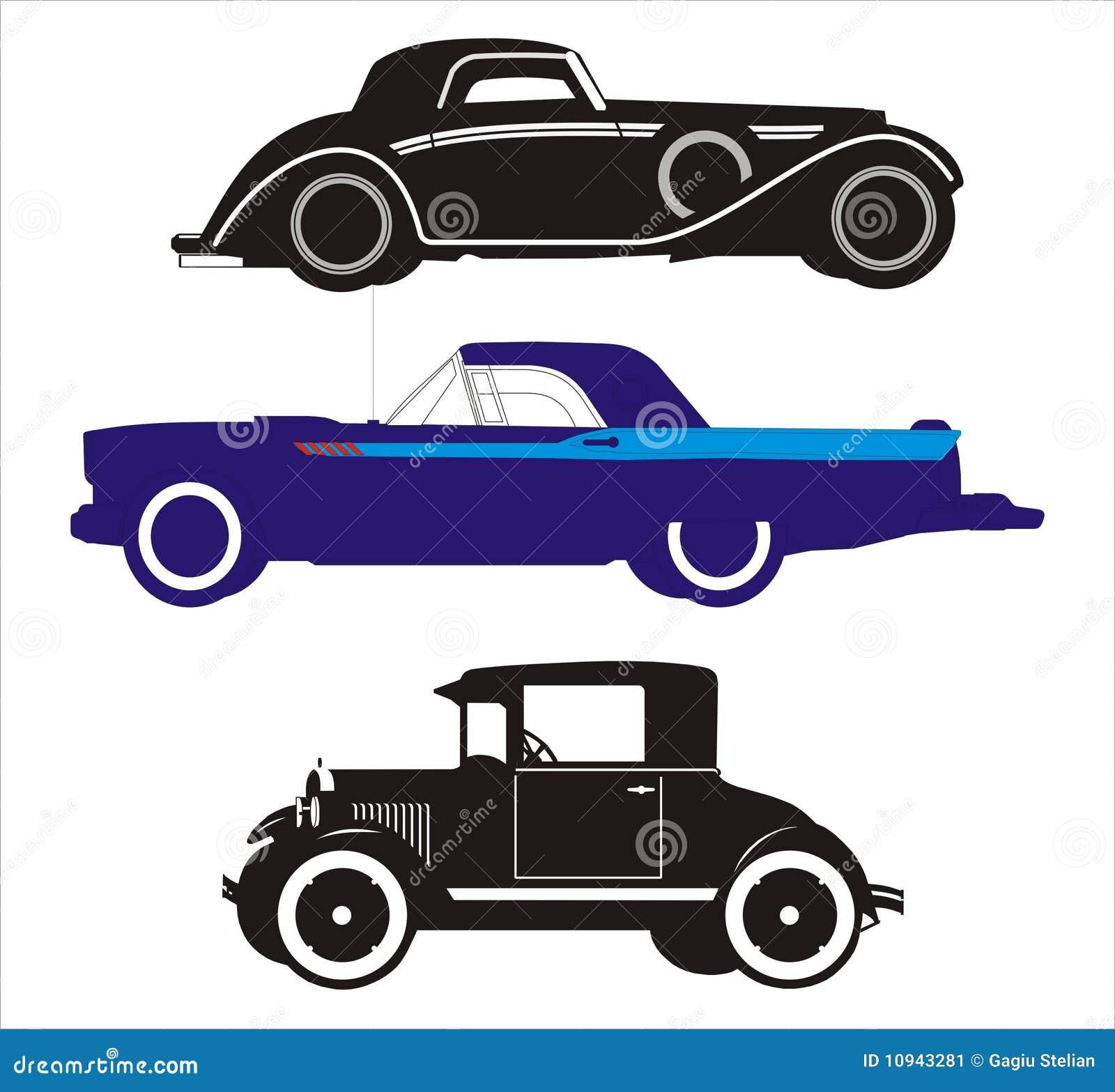 3 автомобиля старого