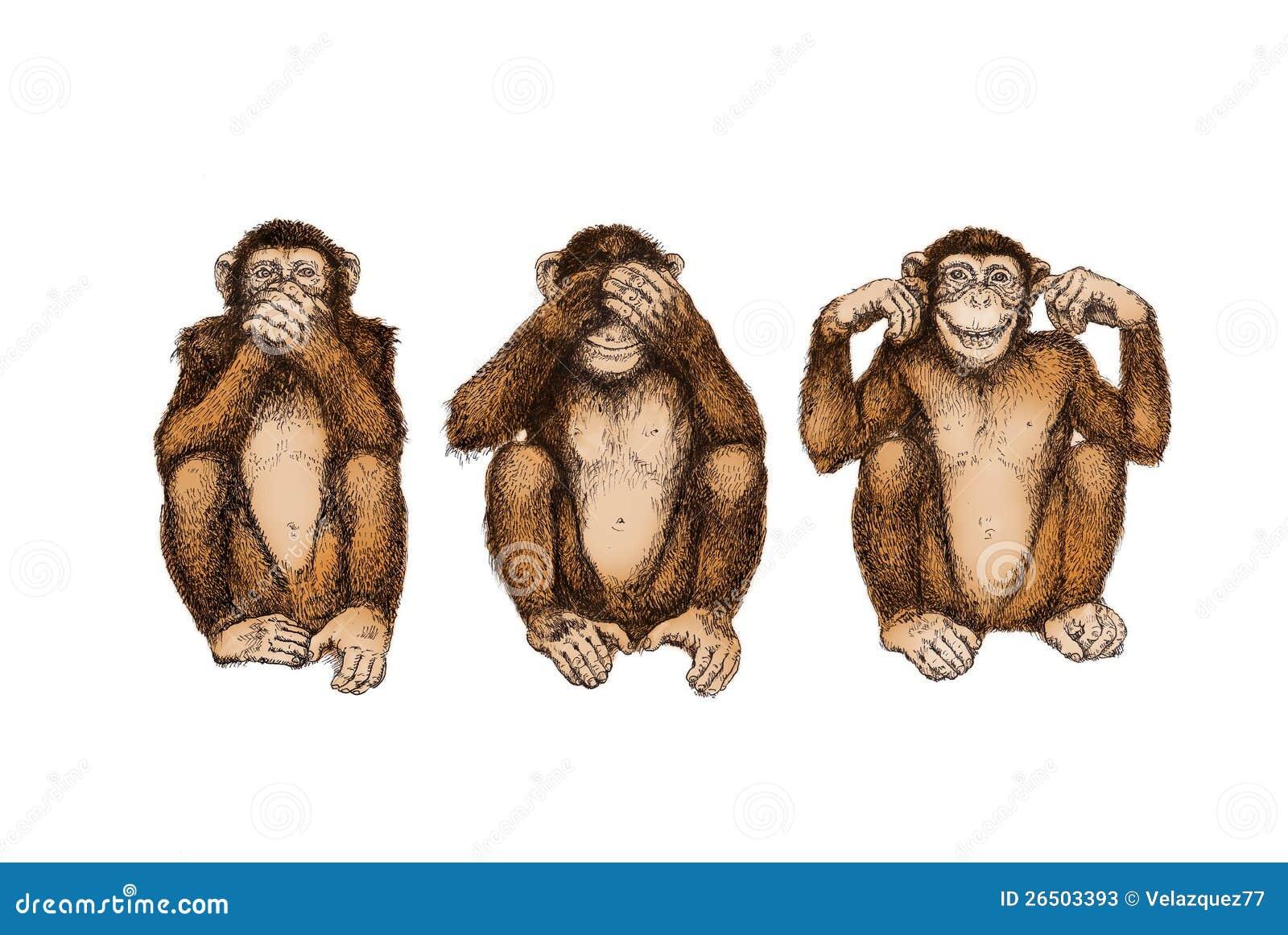 3 велемудрых обезьяны (см., те, поговорите никакое зло)