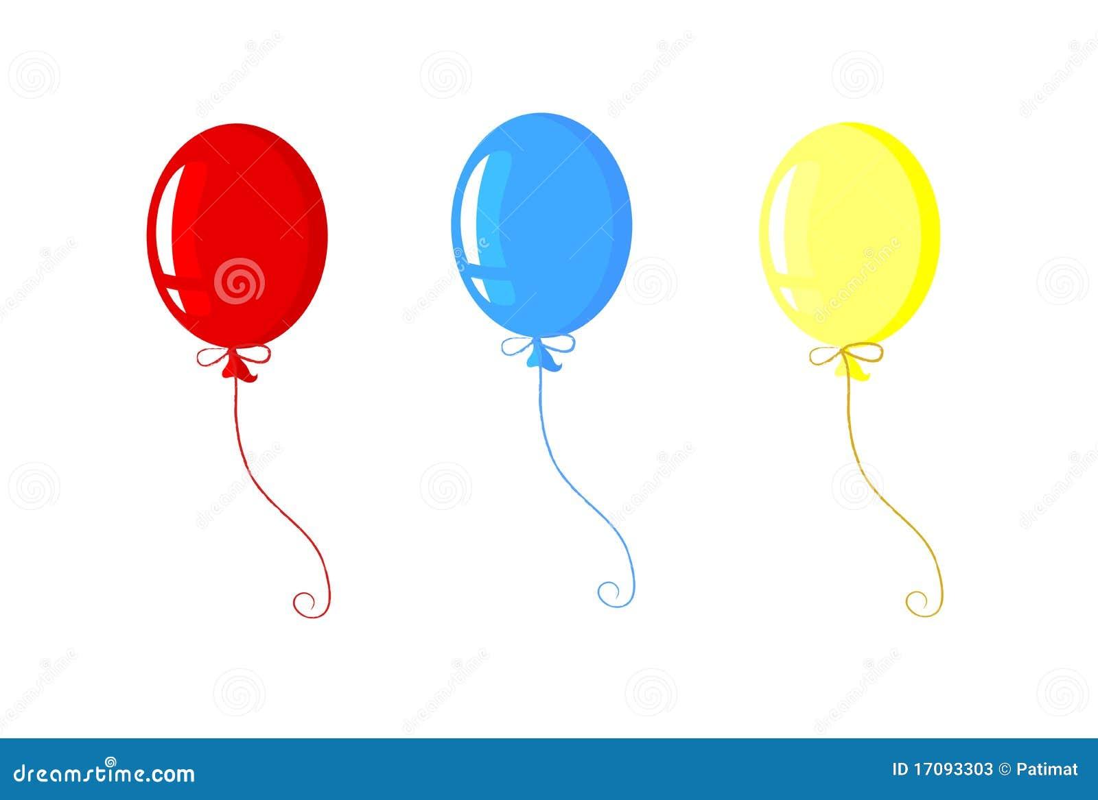 3 воздушного шара торжества