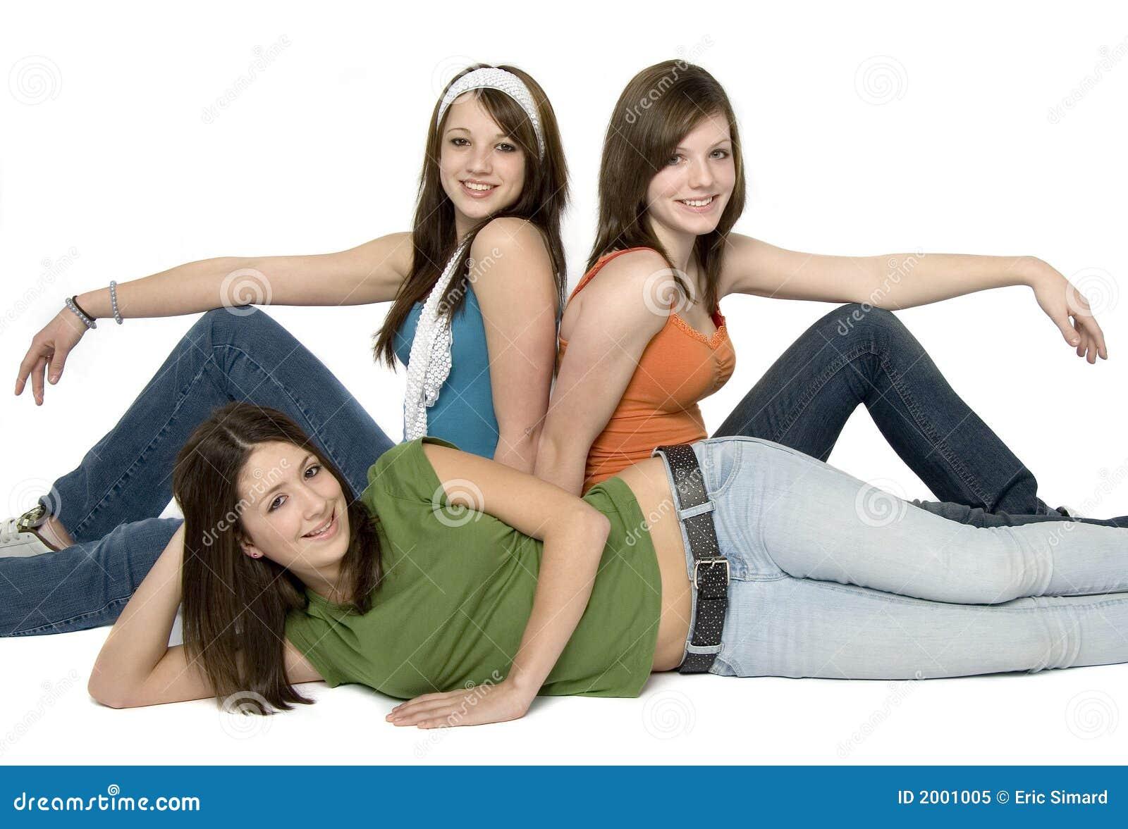 Chicas Adolescentes Imágenes De Archivo, Vectores,