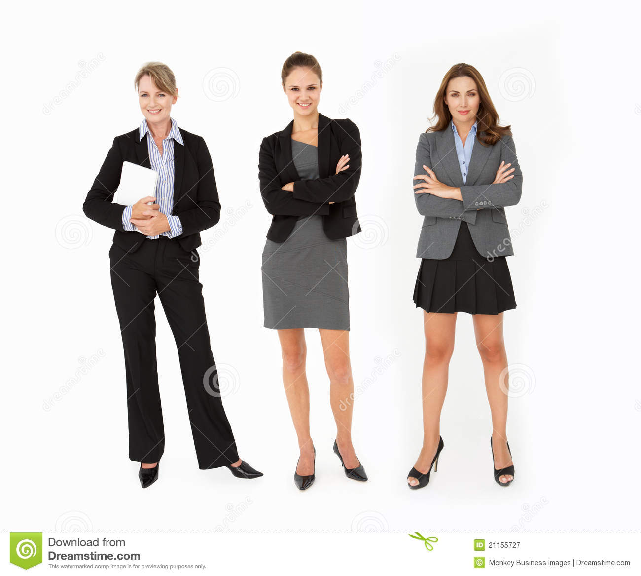 Business women standing in studio royalty free stock photography