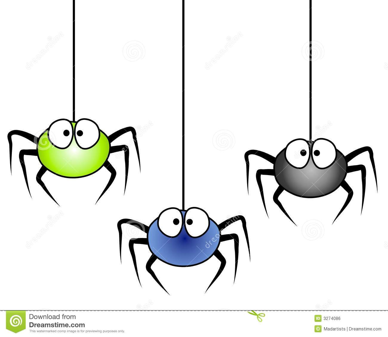 3 cartoon spiders hanging stock illustration illustration of rh dreamstime com cute halloween spider clipart cute spider clip art free