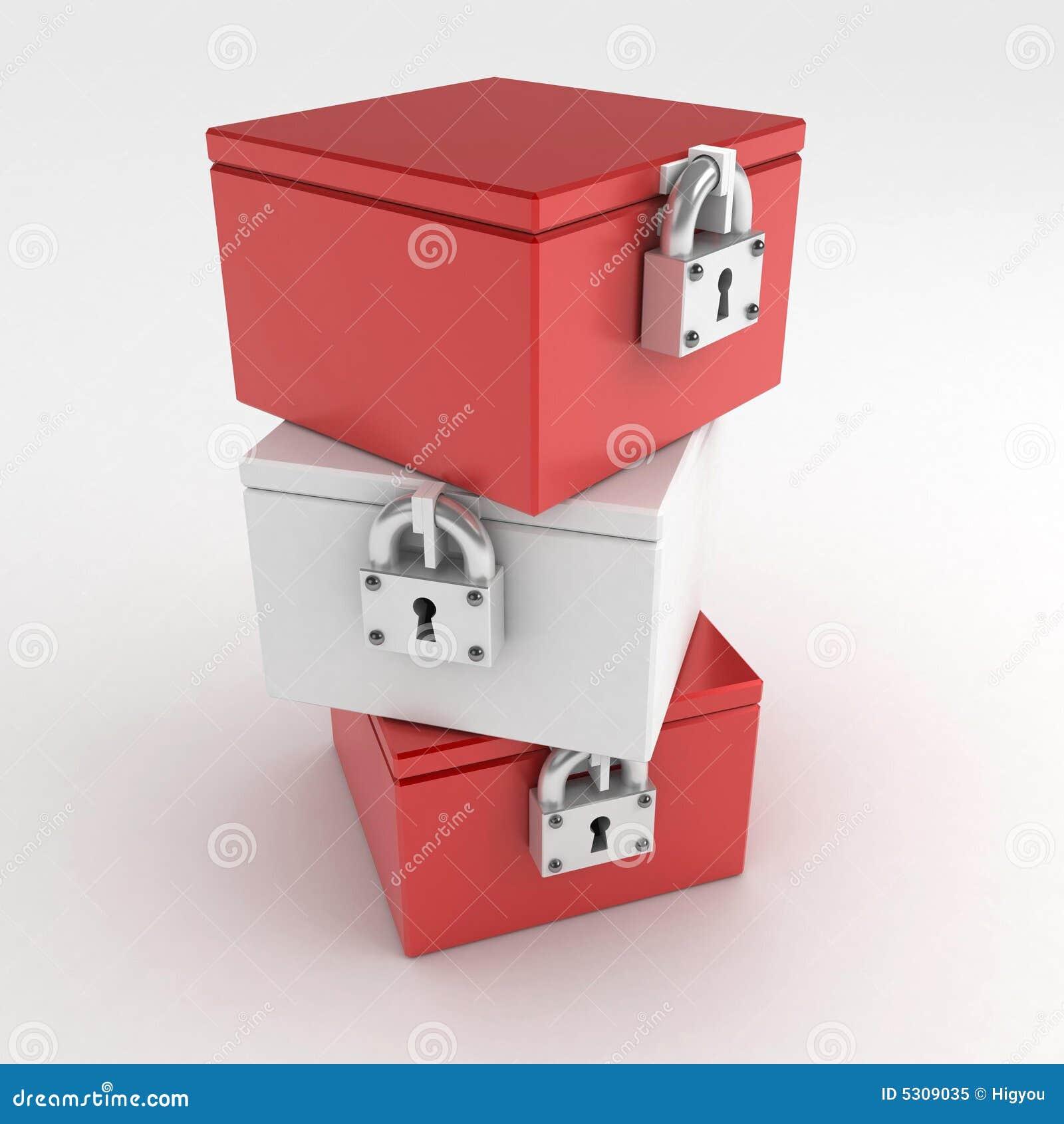 Download 3 caselle Locked illustrazione di stock. Illustrazione di rappresentazione - 5309035