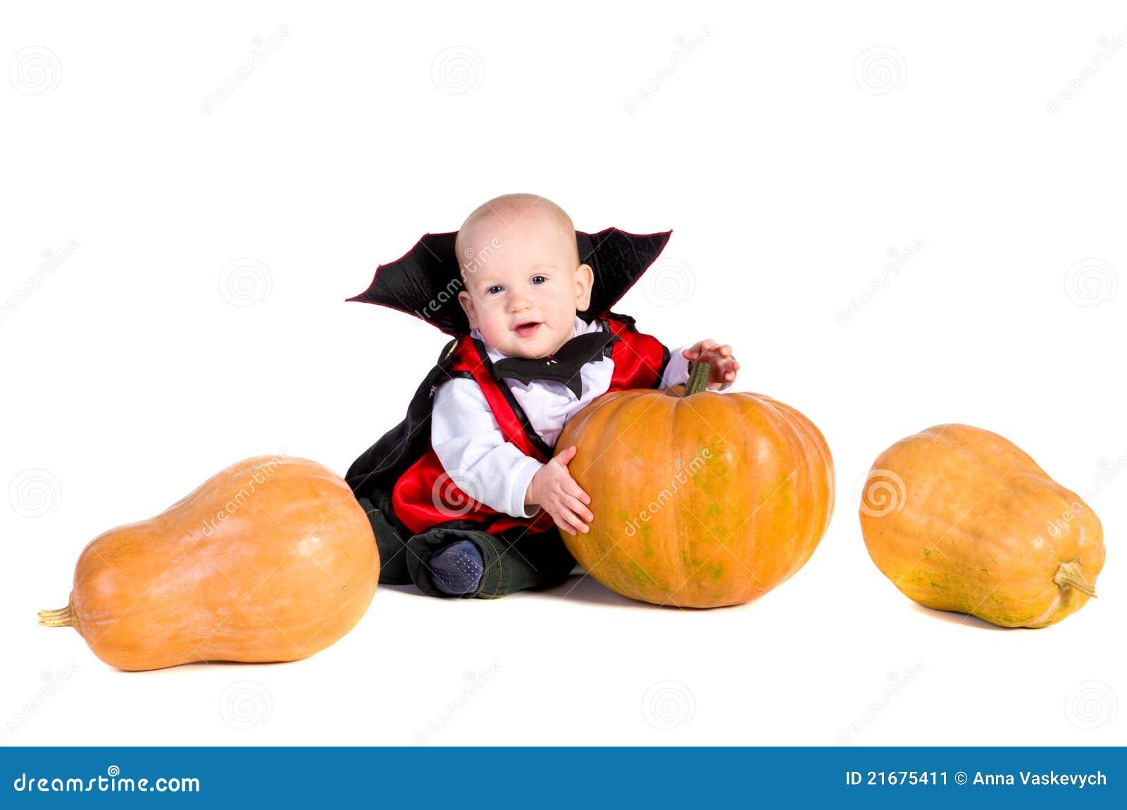 3 chłopiec Halloween pumpking