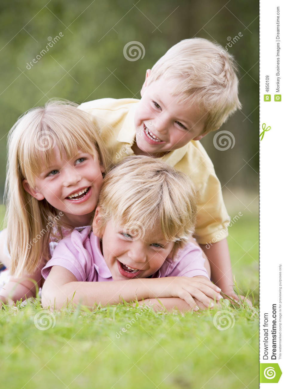 Children Playing Outside Royalty Free Stock Images - Image: 4850109
