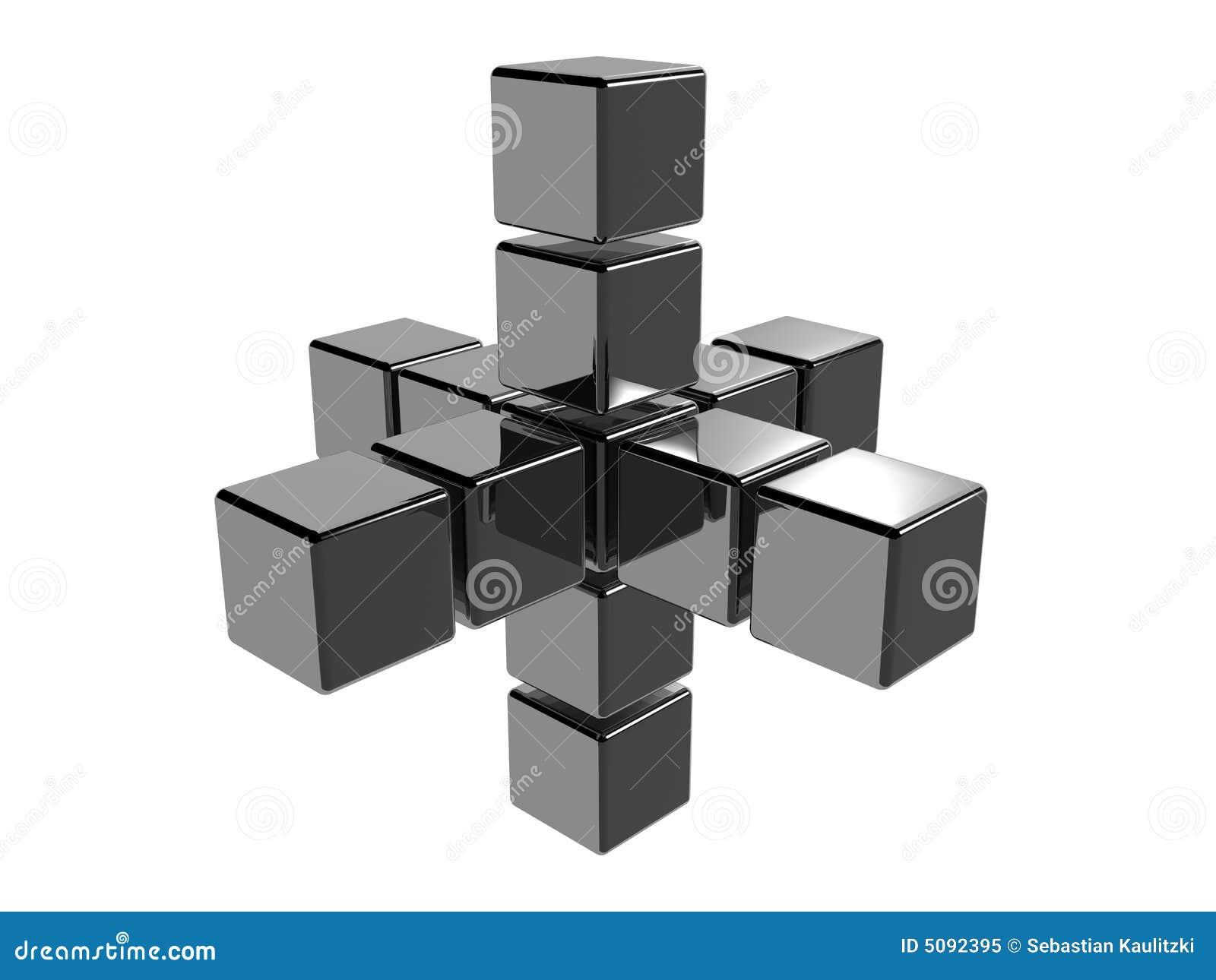 3 d abstrakta kostki