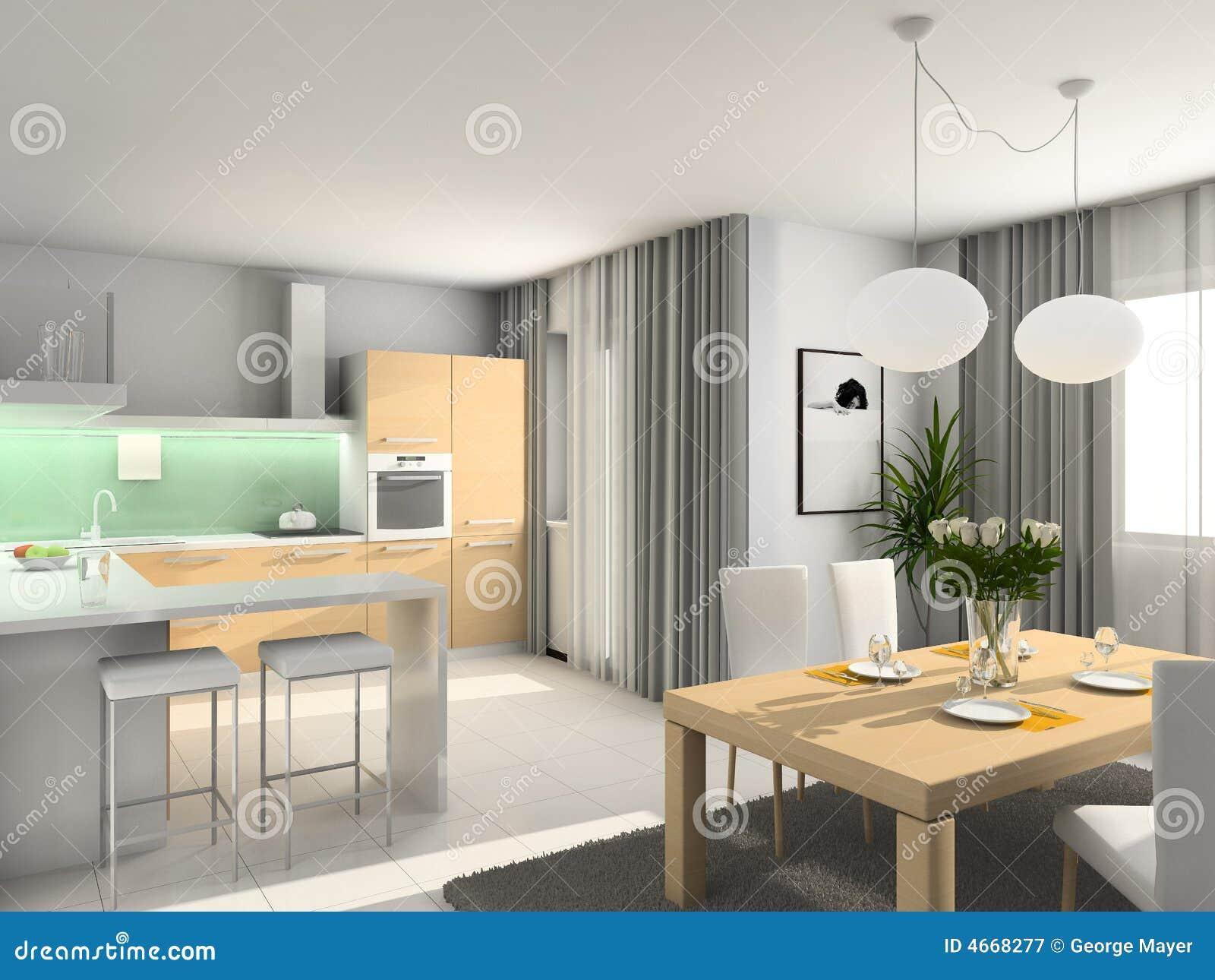3 d nowoczesny w kuchni,