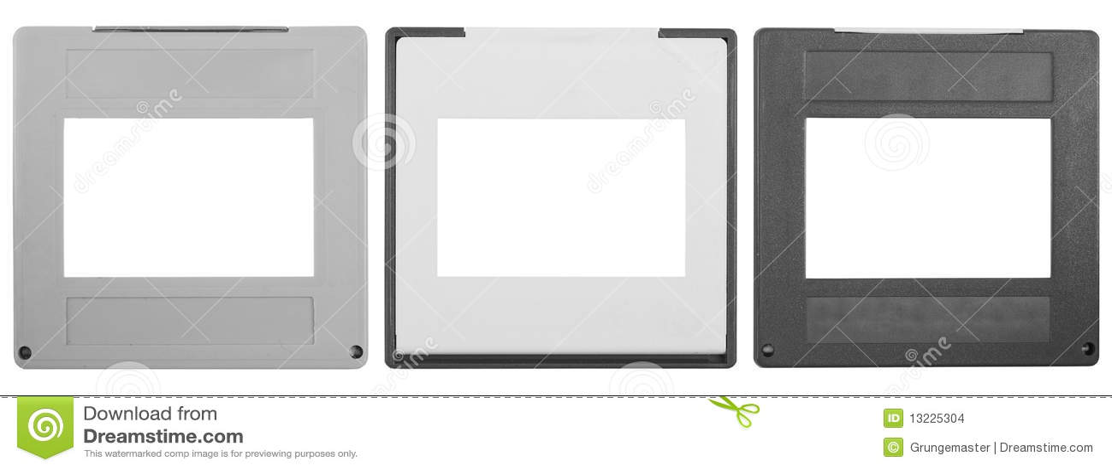 3 diapositivas, marcos foto de archivo. Imagen de marco - 13225304