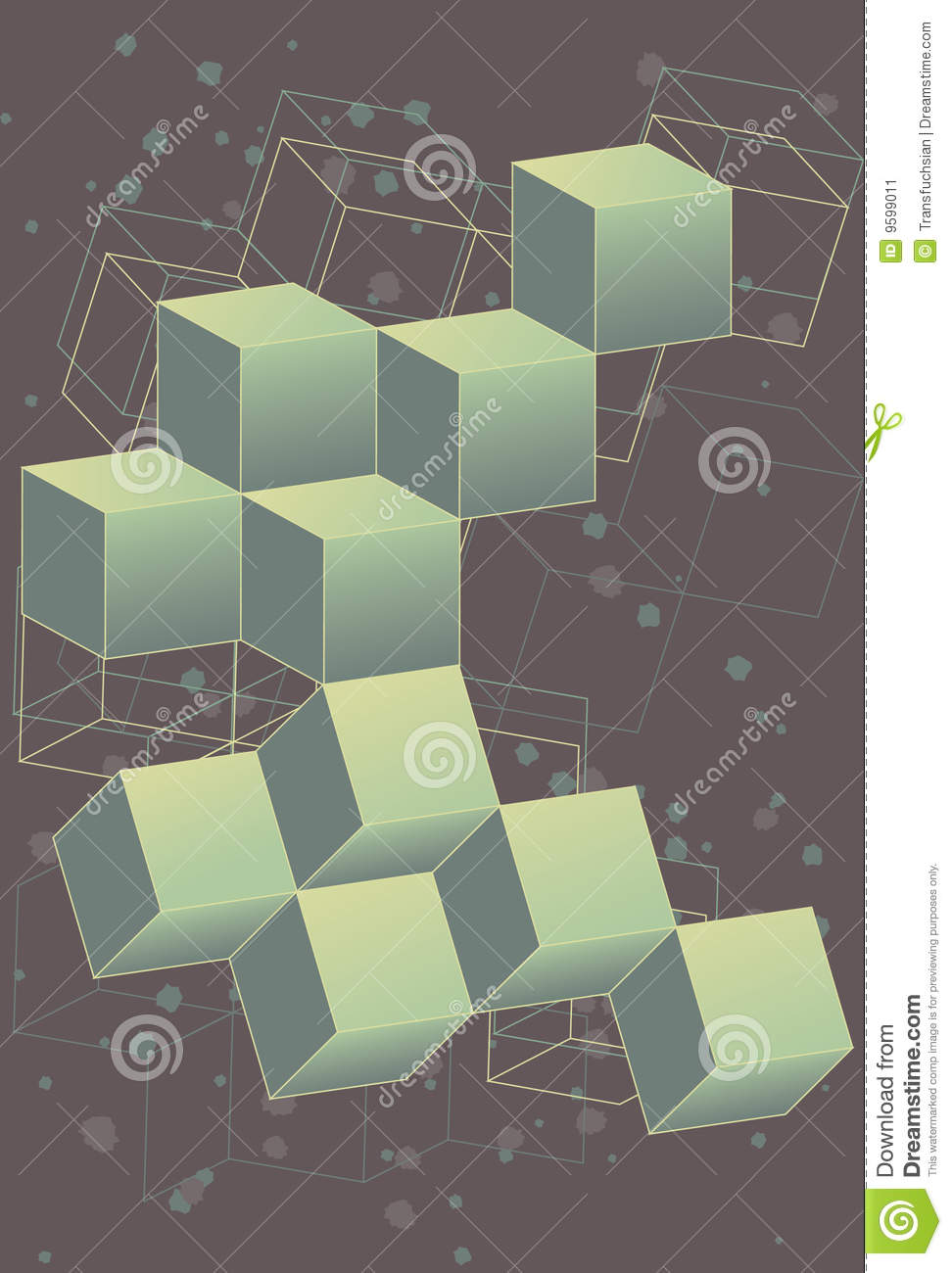 3 dimensional retro outer space cubes stock image image for 3d outer space map