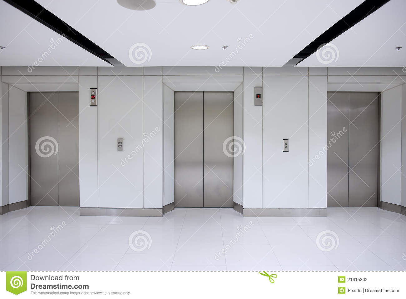 3 Elevator In Office Building Stock Photography - Image: 21615802