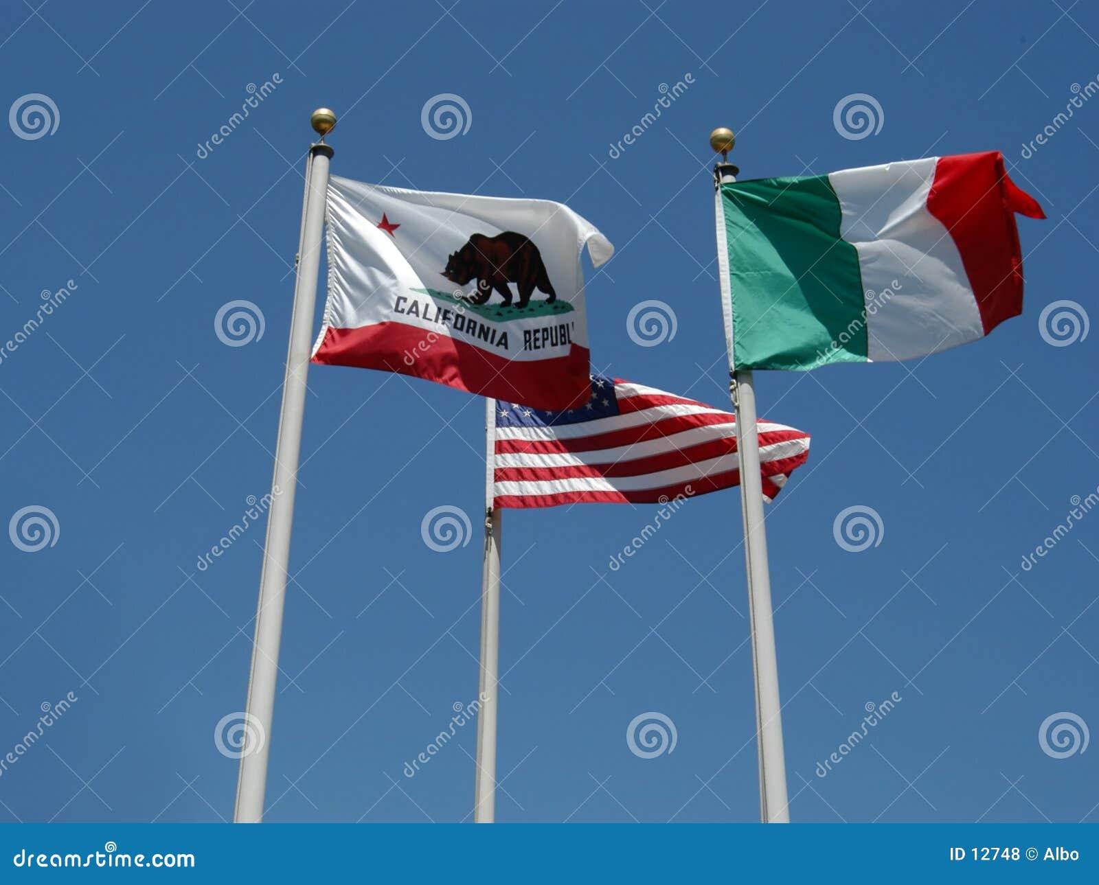 3 flaggor