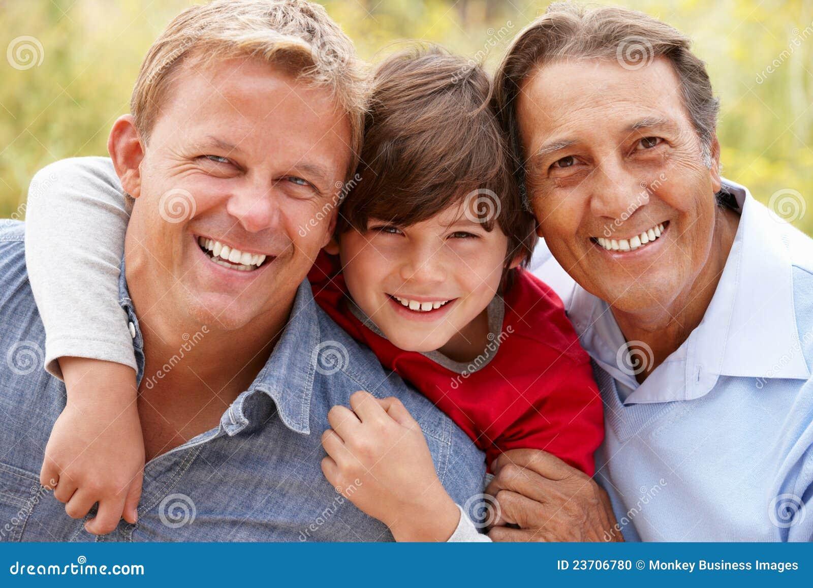3 generations Hispanic men