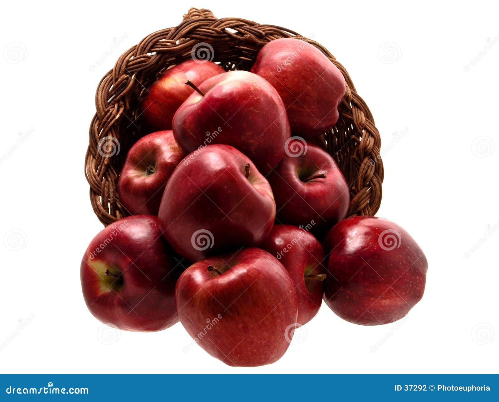 3 jedzenie jabłek 4 koszyka