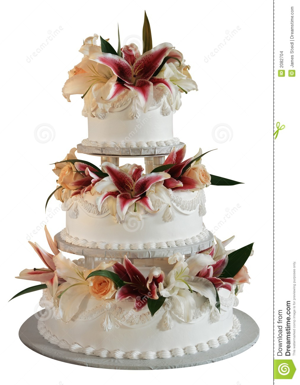 3 layered wedding cakes 3 layer wedding cake stock photo image of roses 10196